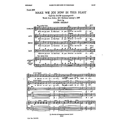 Novello Make We Joy Now in This Feast SATB Composed by Derek Holman thumbnail