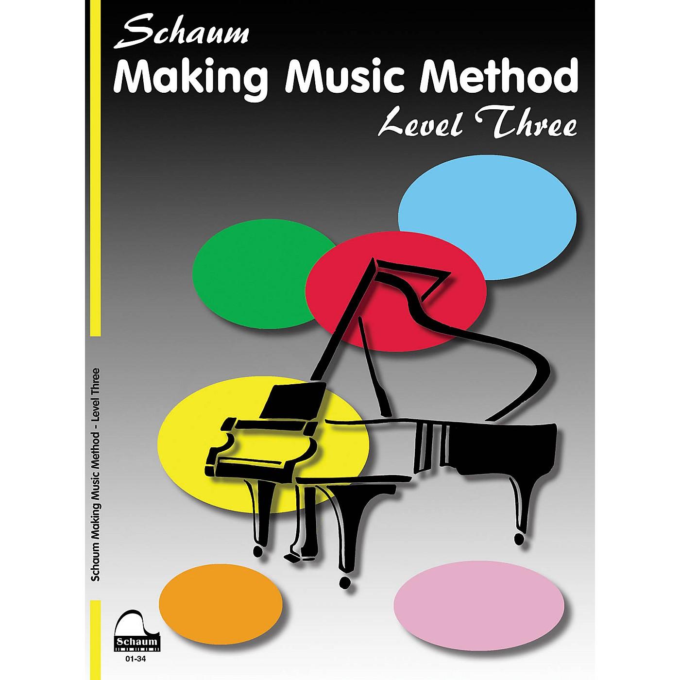 SCHAUM Making Music Method Educational Piano Book by John W. Schaum (Level Early Inter) thumbnail