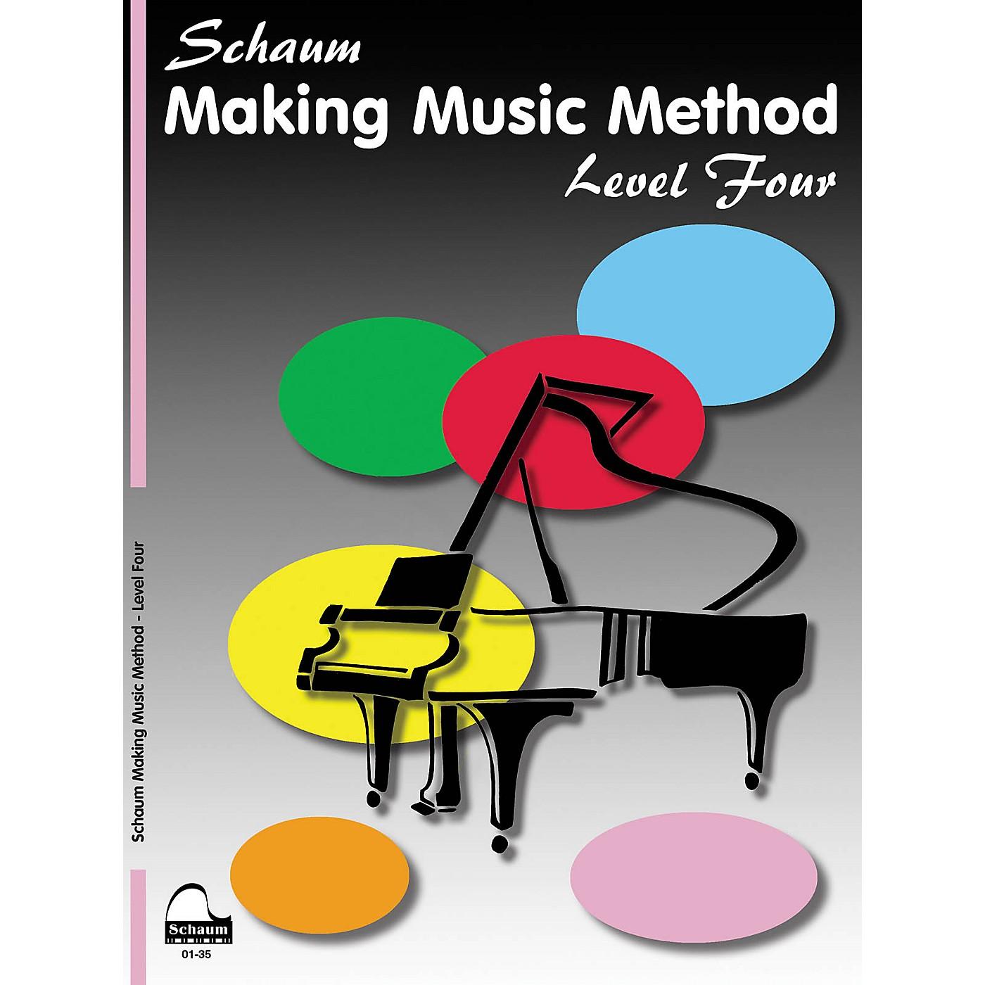 SCHAUM Making Music Method (Level 4 Inter Level) Educational Piano Book by John W. Schaum thumbnail
