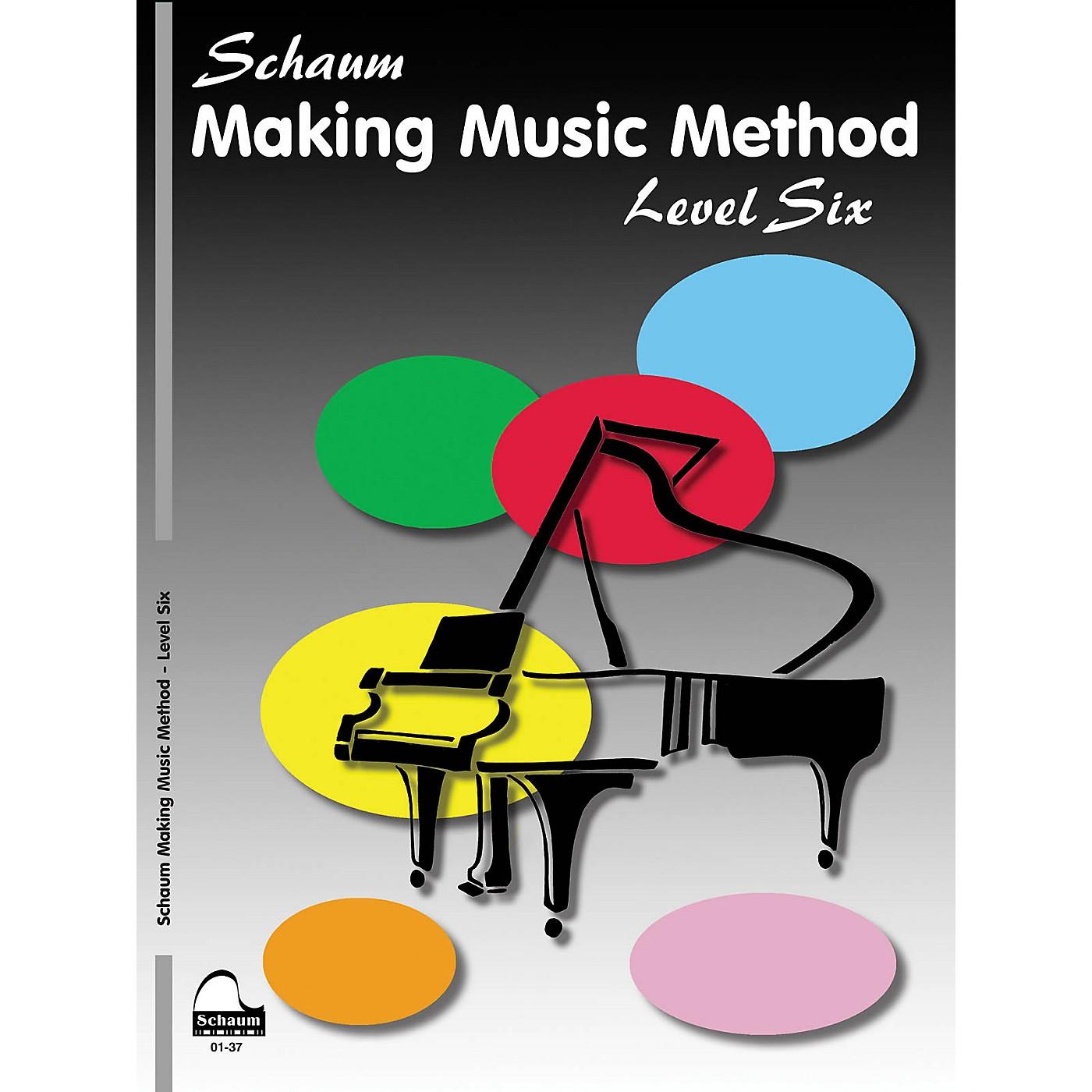 SCHAUM Making Music Method (Level 6 Advanced Level) Educational Piano Book by John W. Schaum thumbnail