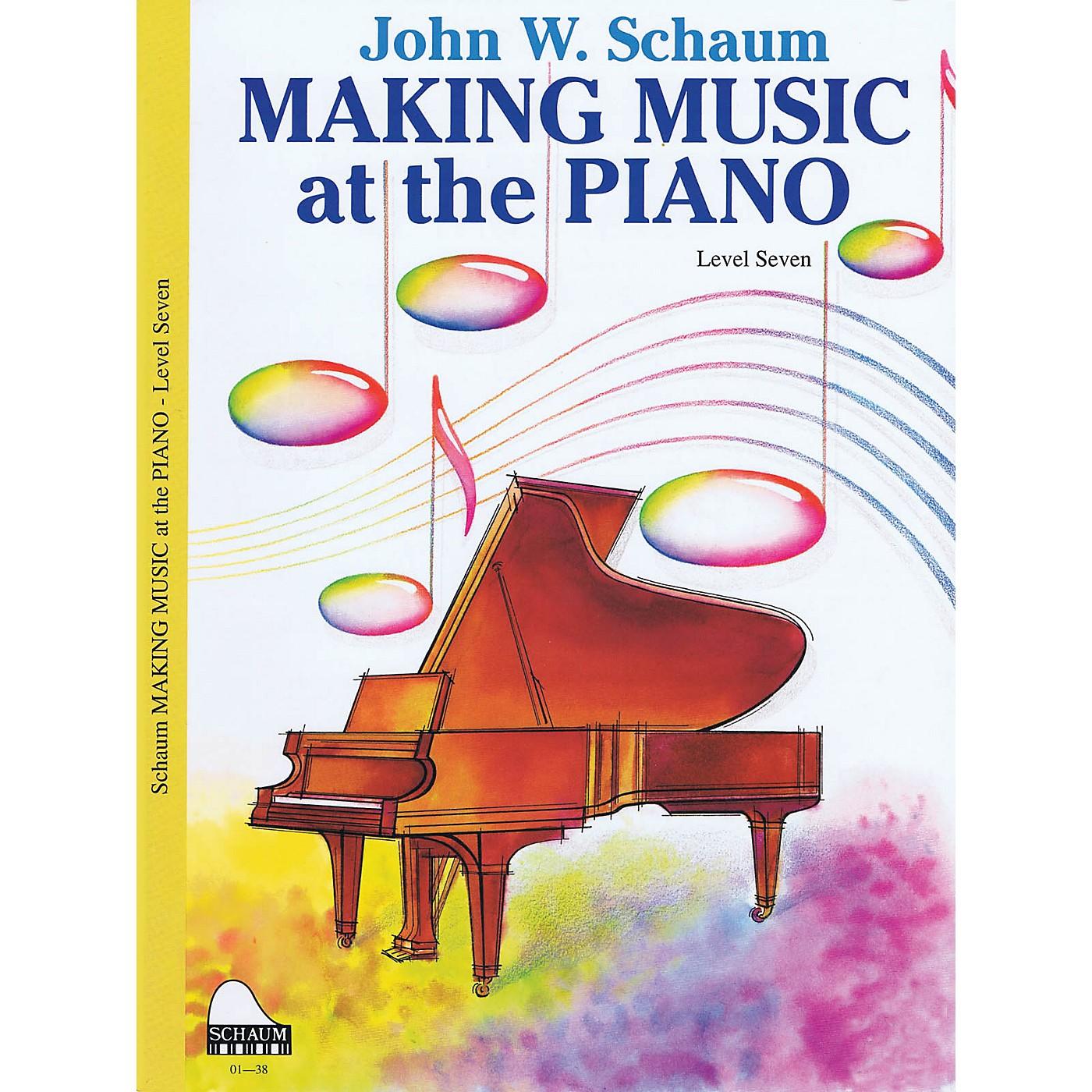 SCHAUM Making Music Method (Level 7 Advanced Level) Educational Piano Book by John W. Schaum thumbnail