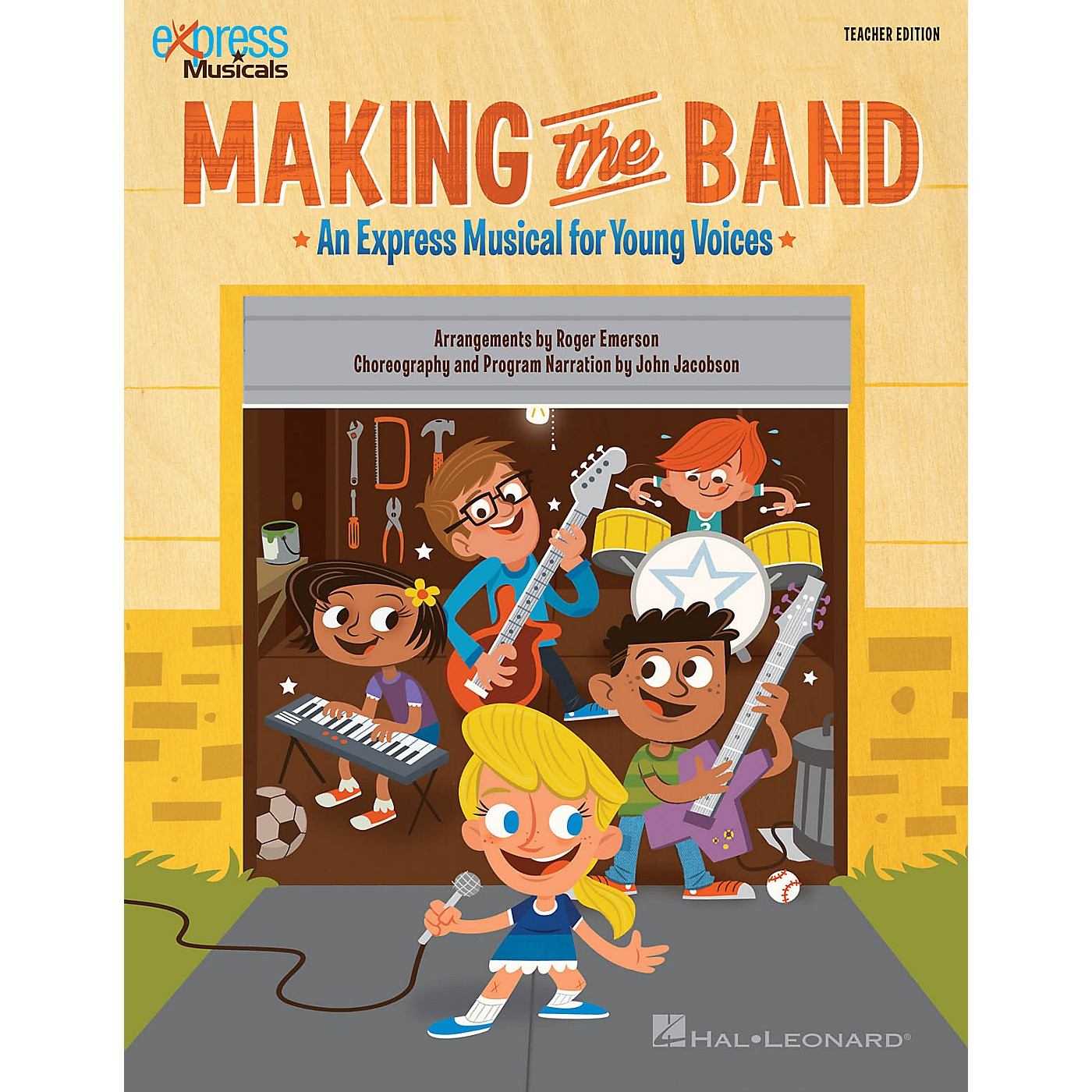 Hal Leonard Making the Band (Express Musical for Young Voices) singer 20 pak Arranged by Roger Emerson thumbnail