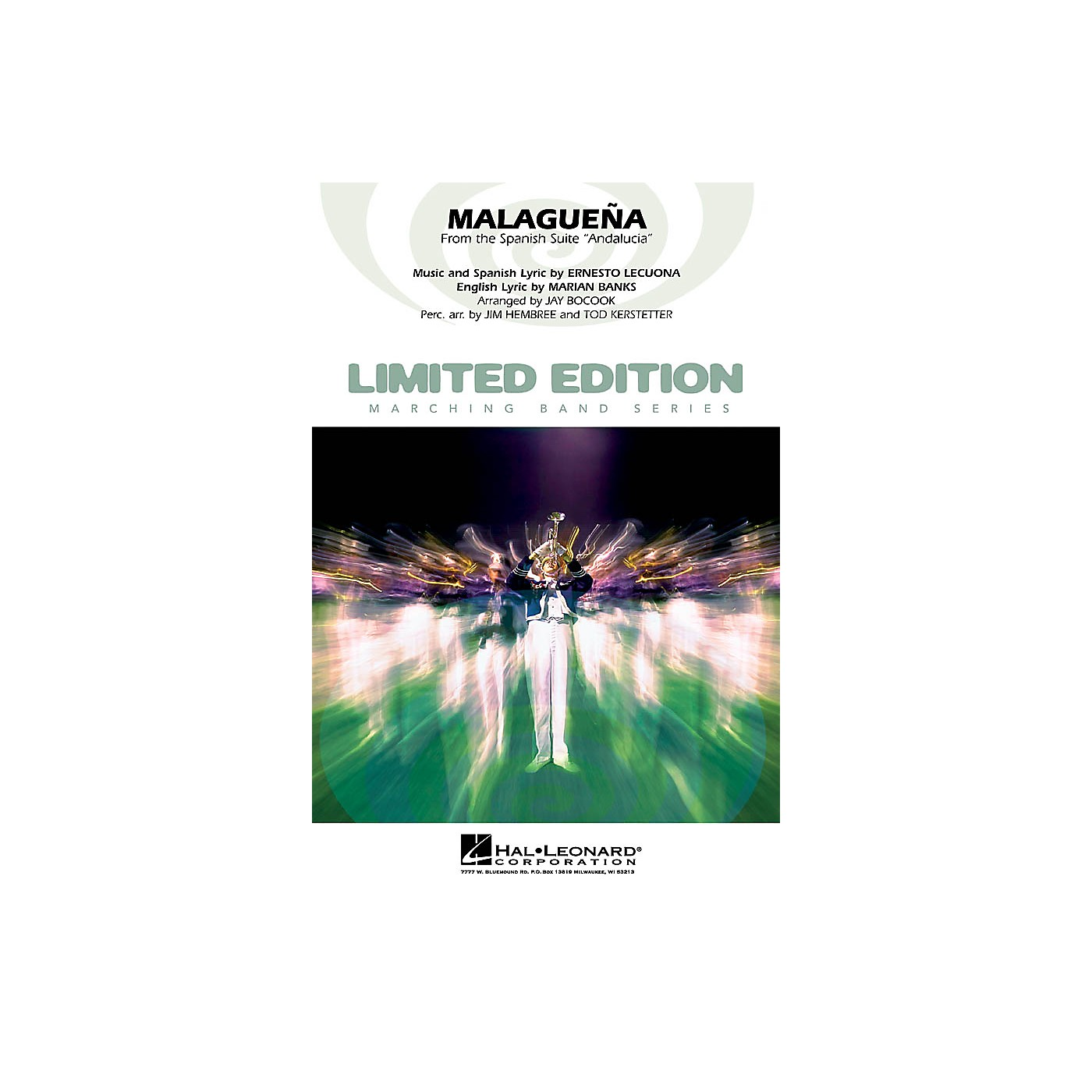 Hal Leonard Malagueña (from the Spanish suite Andalucia) Marching Band Level 4 Arranged by Jay Bocook thumbnail