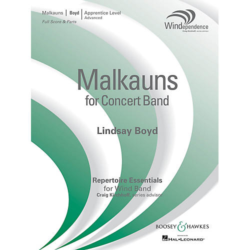 Boosey and Hawkes Malkauns (Score Only) Concert Band Level 3 Composed by Lindsay Boyd thumbnail