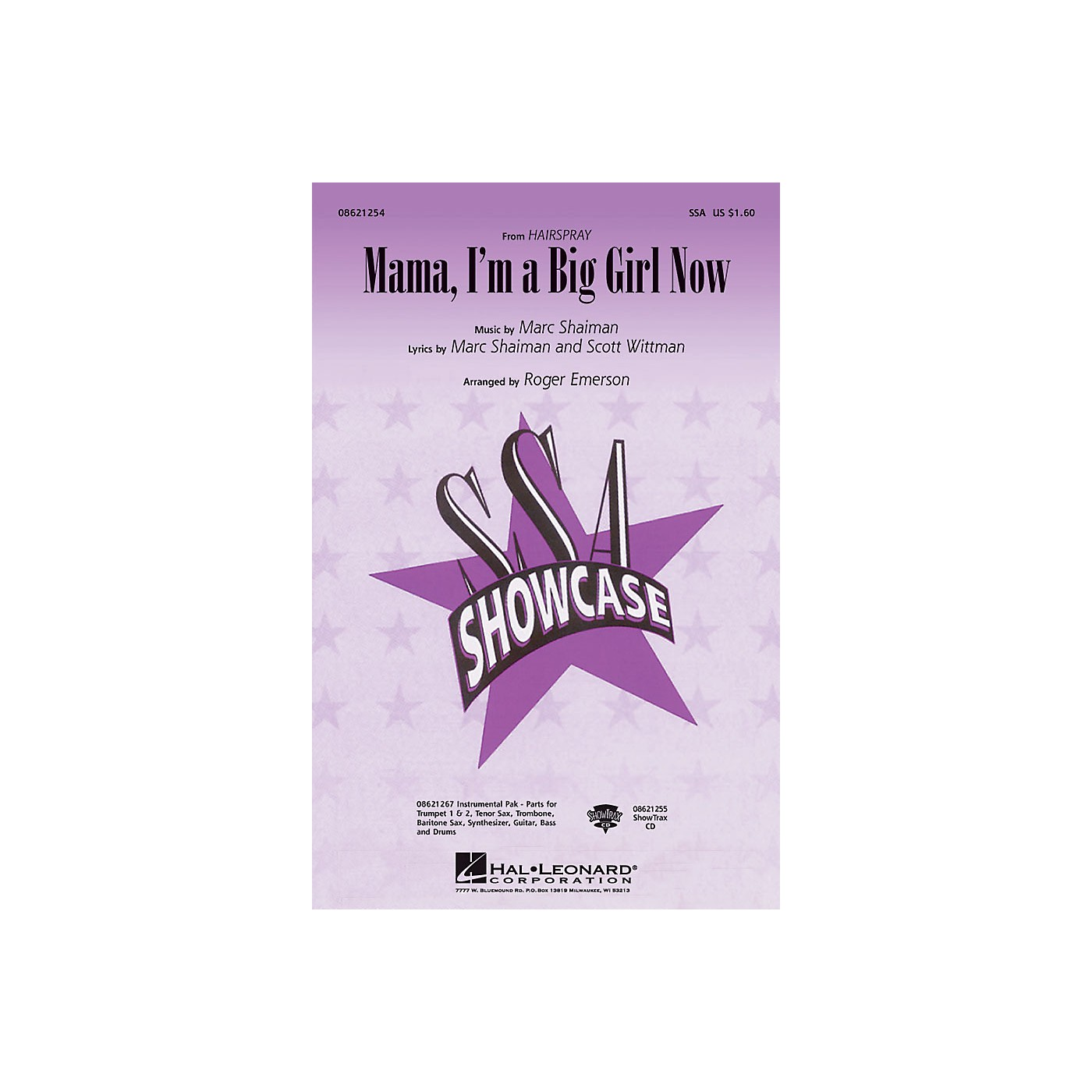 Hal Leonard Mama, I'm a Big Girl Now (from Hairspray) SSA arranged by Roger Emerson thumbnail