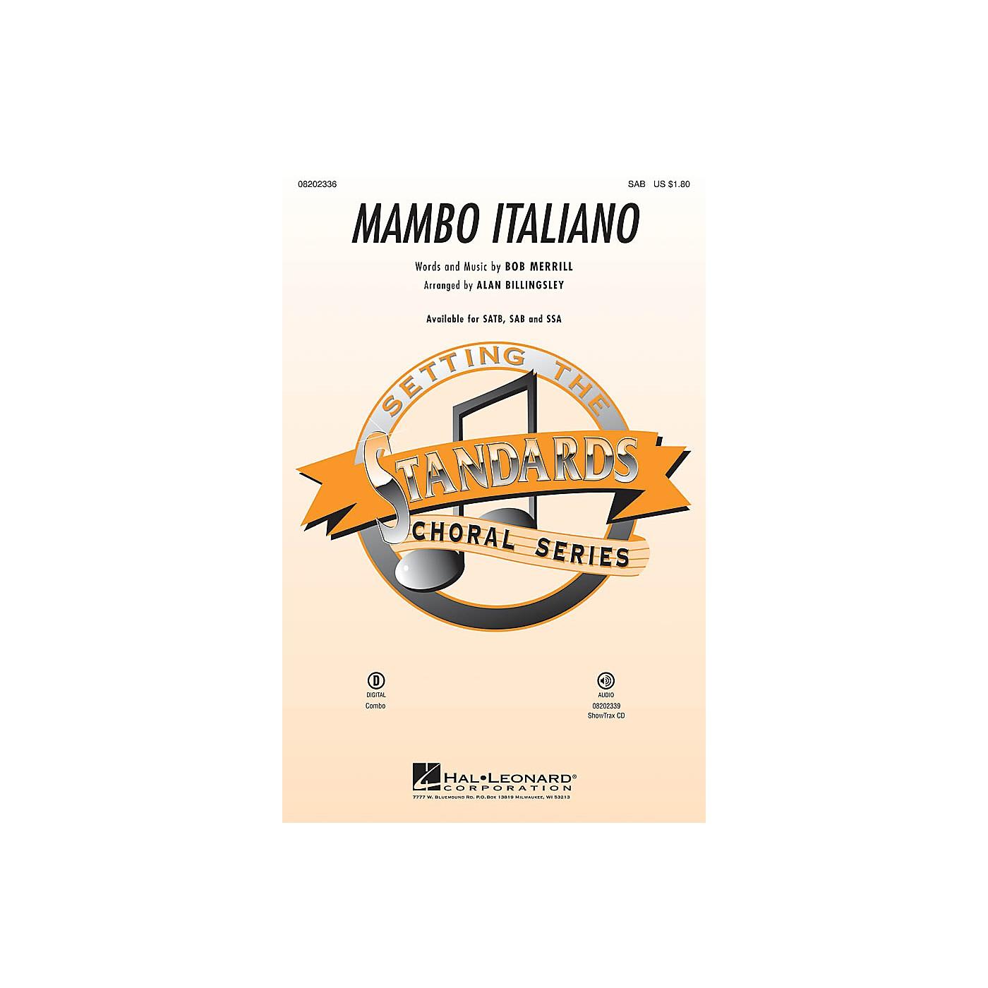 Hal Leonard Mambo Italiano (SAB) SAB by Rosemary Clooney arranged by Alan Billingsley thumbnail