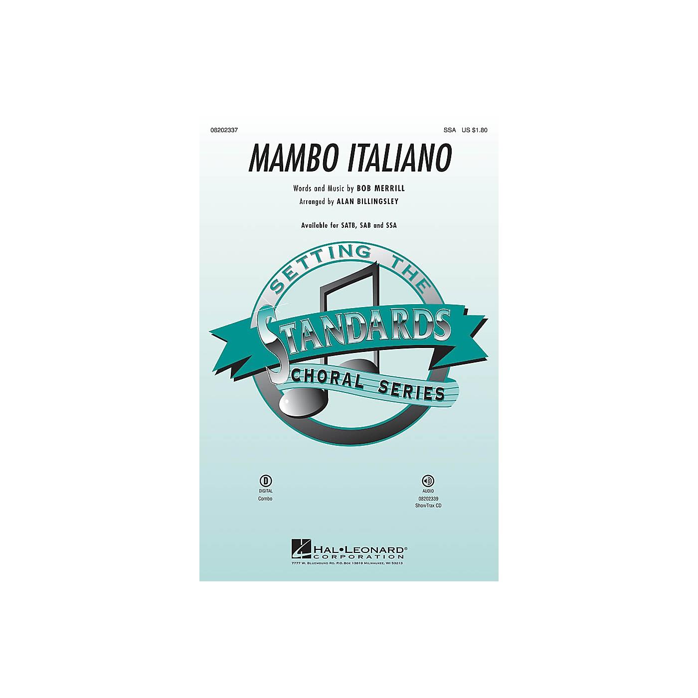Hal Leonard Mambo Italiano (SSA) SSA by Rosemary Clooney arranged by Alan Billingsley thumbnail
