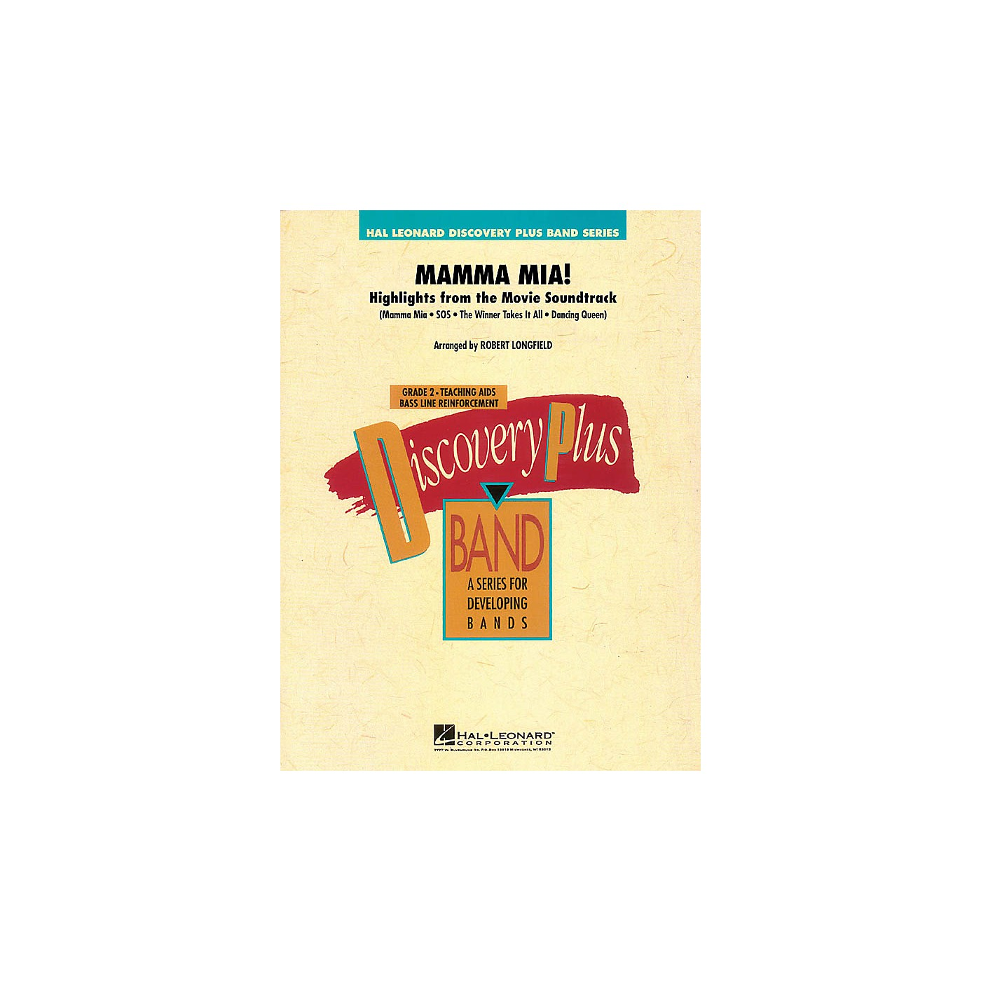 Hal Leonard Mamma Mia! - Highlights from the Movie Soundtrack - Band Level 2 arranged by Robert Longfield thumbnail