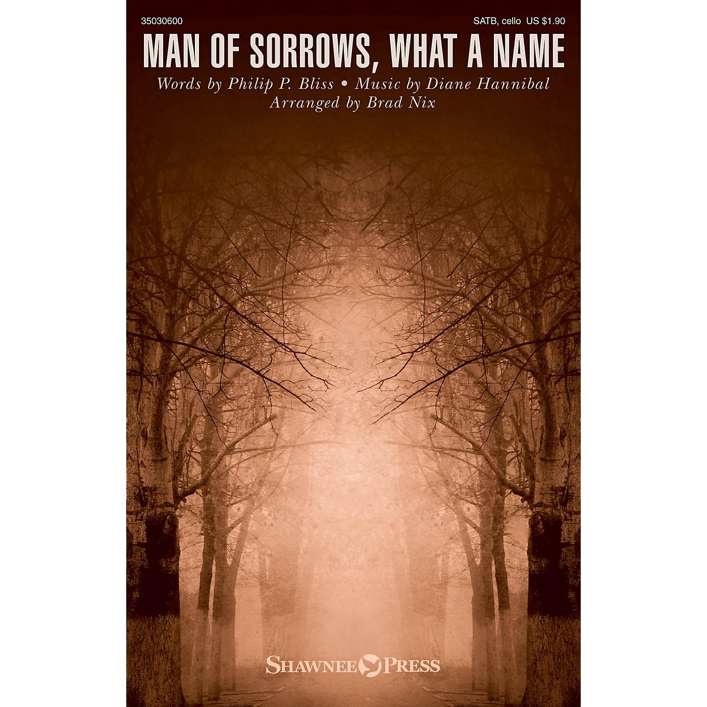 Shawnee Press Man of Sorrows, What a Name SATB W/ CELLO arranged by Brad Nix thumbnail