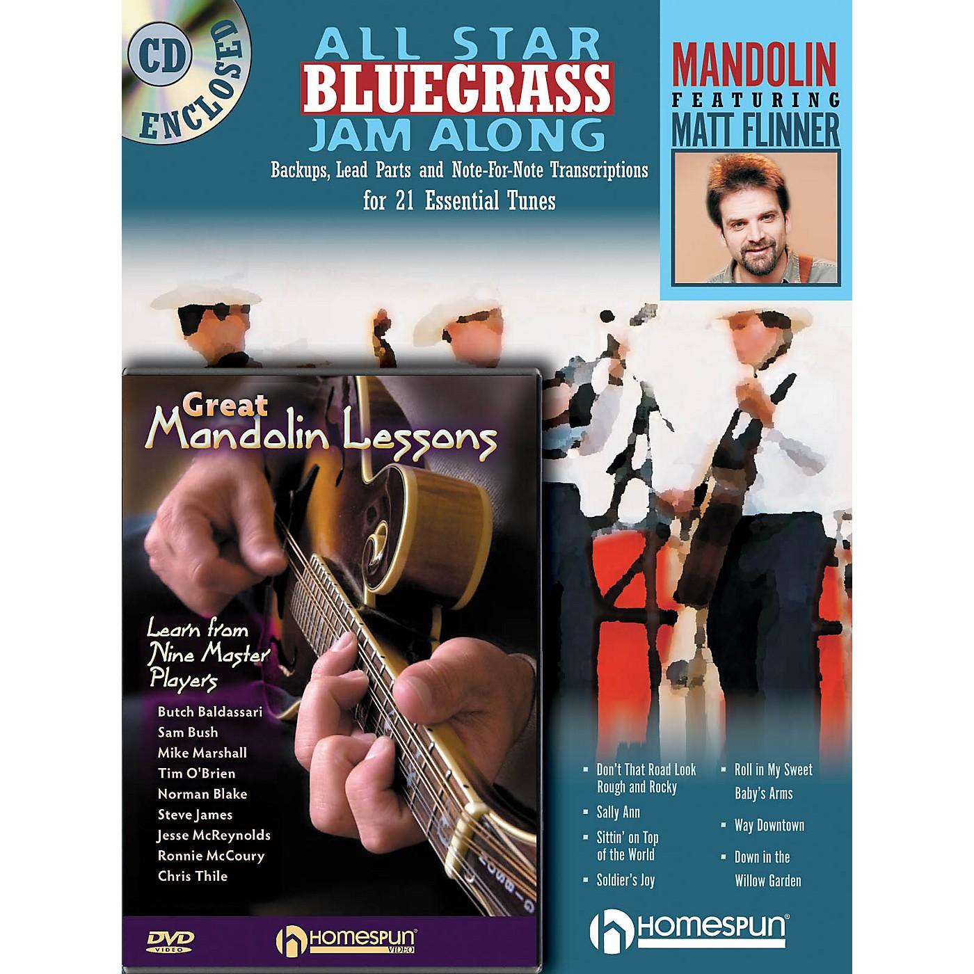 Homespun Mandolin Jam Along Bundle Pack Homespun Tapes Series Performed by Matt Flinner thumbnail