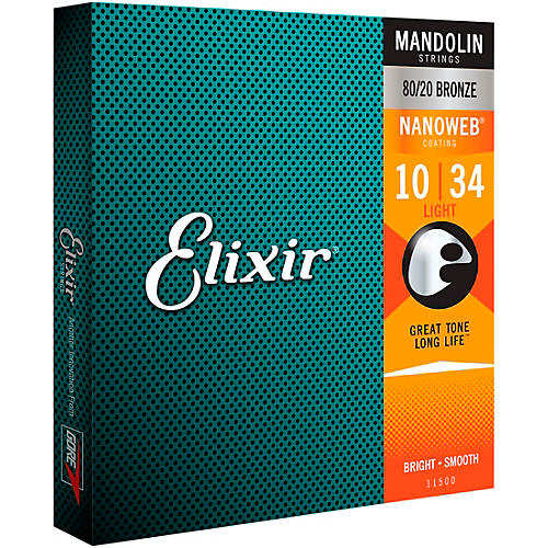 Elixir Mandolin Strings with NANOWEB Coating, Light (.010-.034) thumbnail