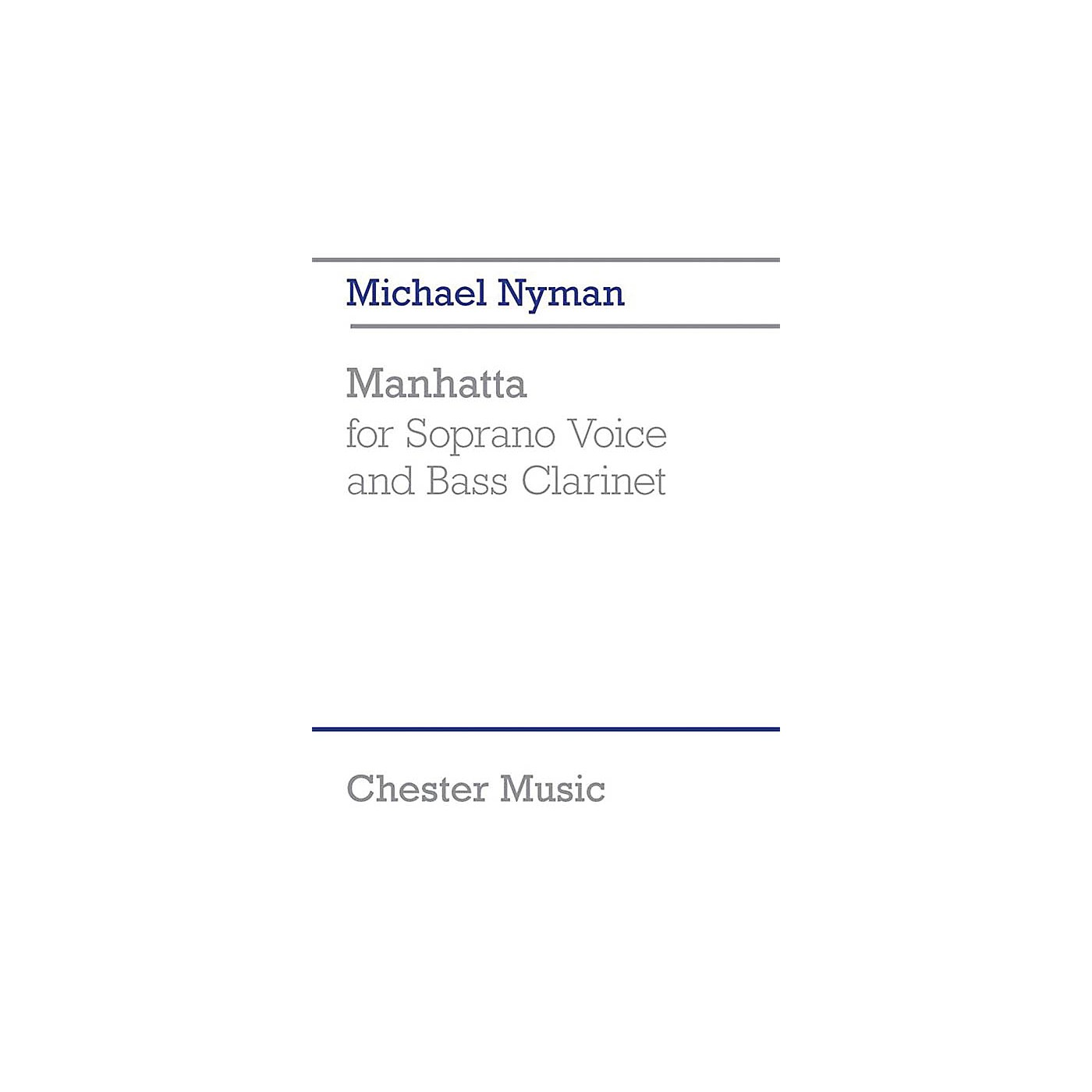 Chester Music Manhatta Music Sales America Series Softcover Composed by Michael Nyman thumbnail