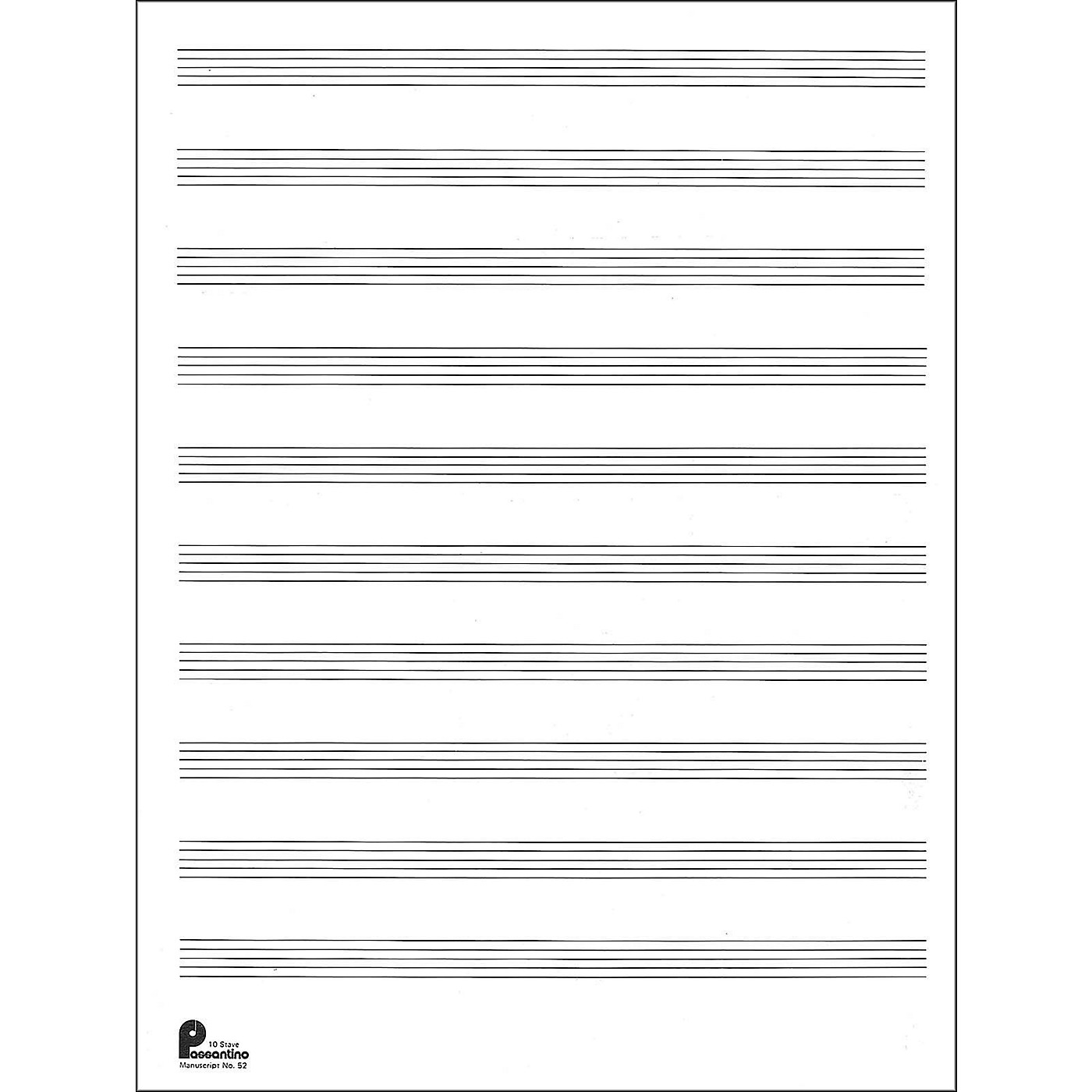 Music Sales Manuscript Paper No.2 24 Double Fold Sheets, 9X12, 10 Stave, 96 Pages thumbnail