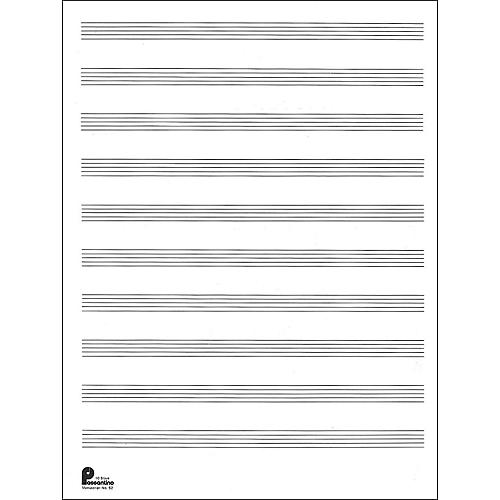 Manuscript Paper No 2 24 Double Fold Sheets 9X12 10 Stave 96