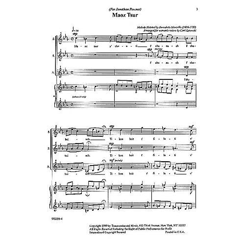 Transcontinental Music Maoz Tsur SSA arranged by Carl Zytowski thumbnail