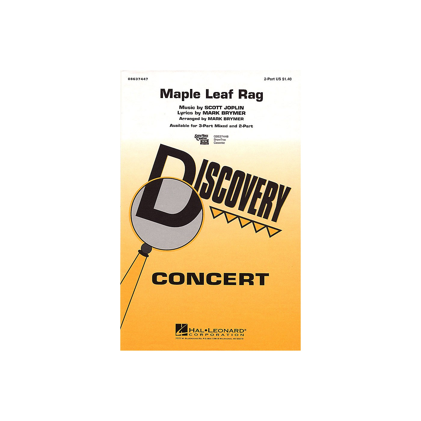 Hal Leonard Maple Leaf Rag 2-Part arranged by Mark Brymer thumbnail