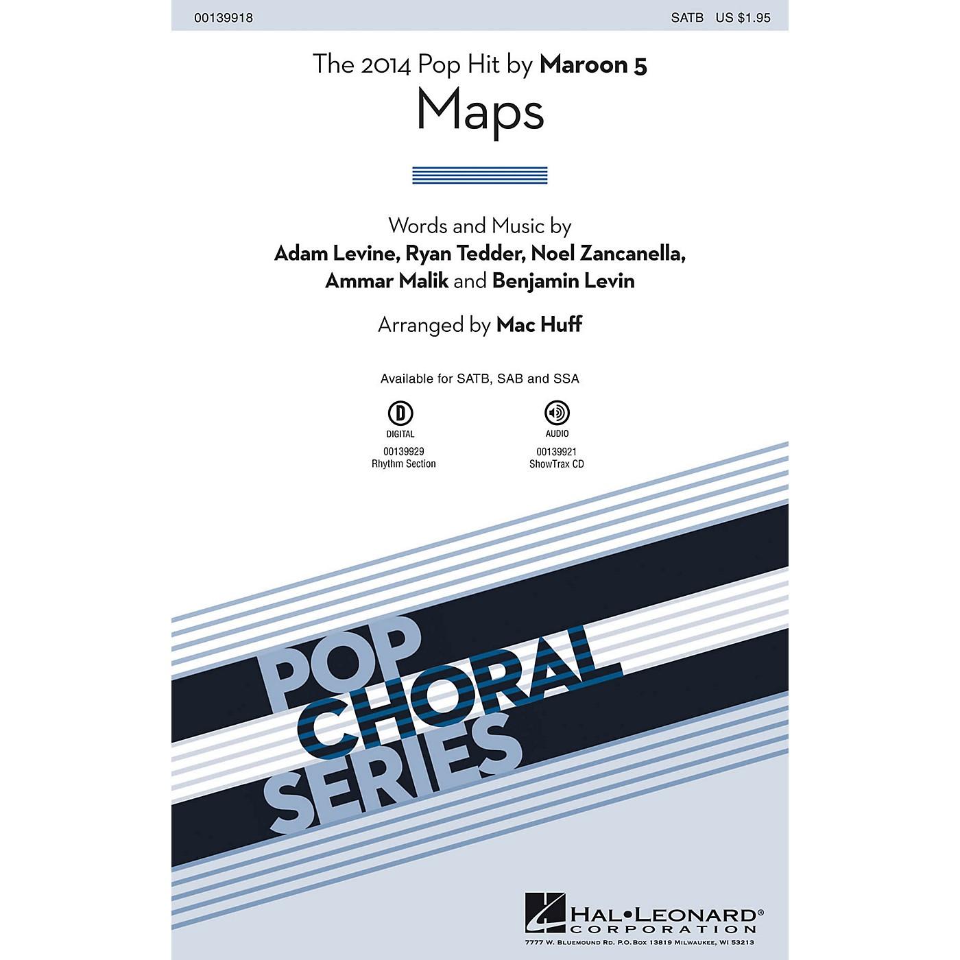 Hal Leonard Maps SAB by Maroon 5 Arranged by Mac Huff thumbnail