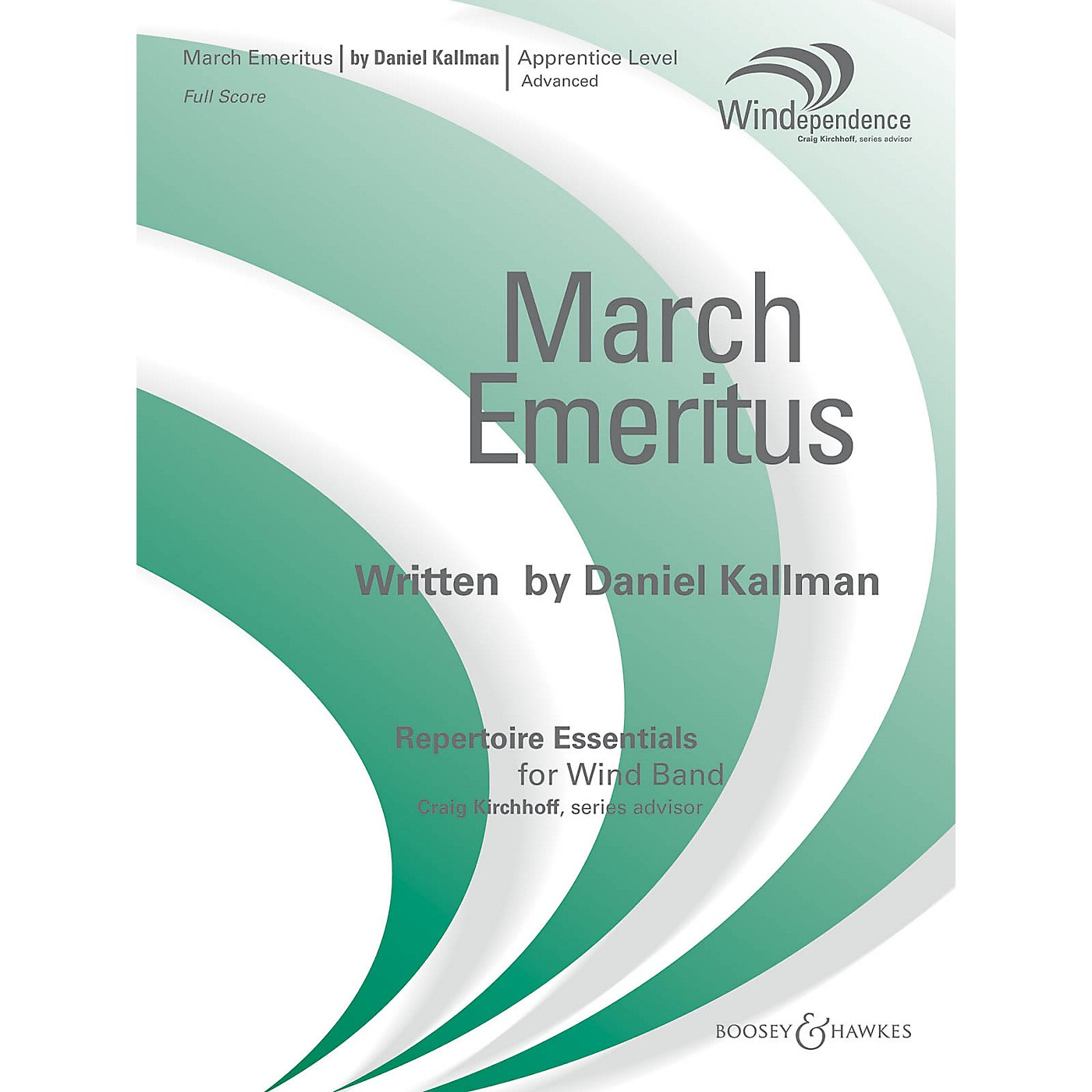Boosey and Hawkes March Emeritus (Score Only) Concert Band Level 3 Composed by Daniel Kallman thumbnail
