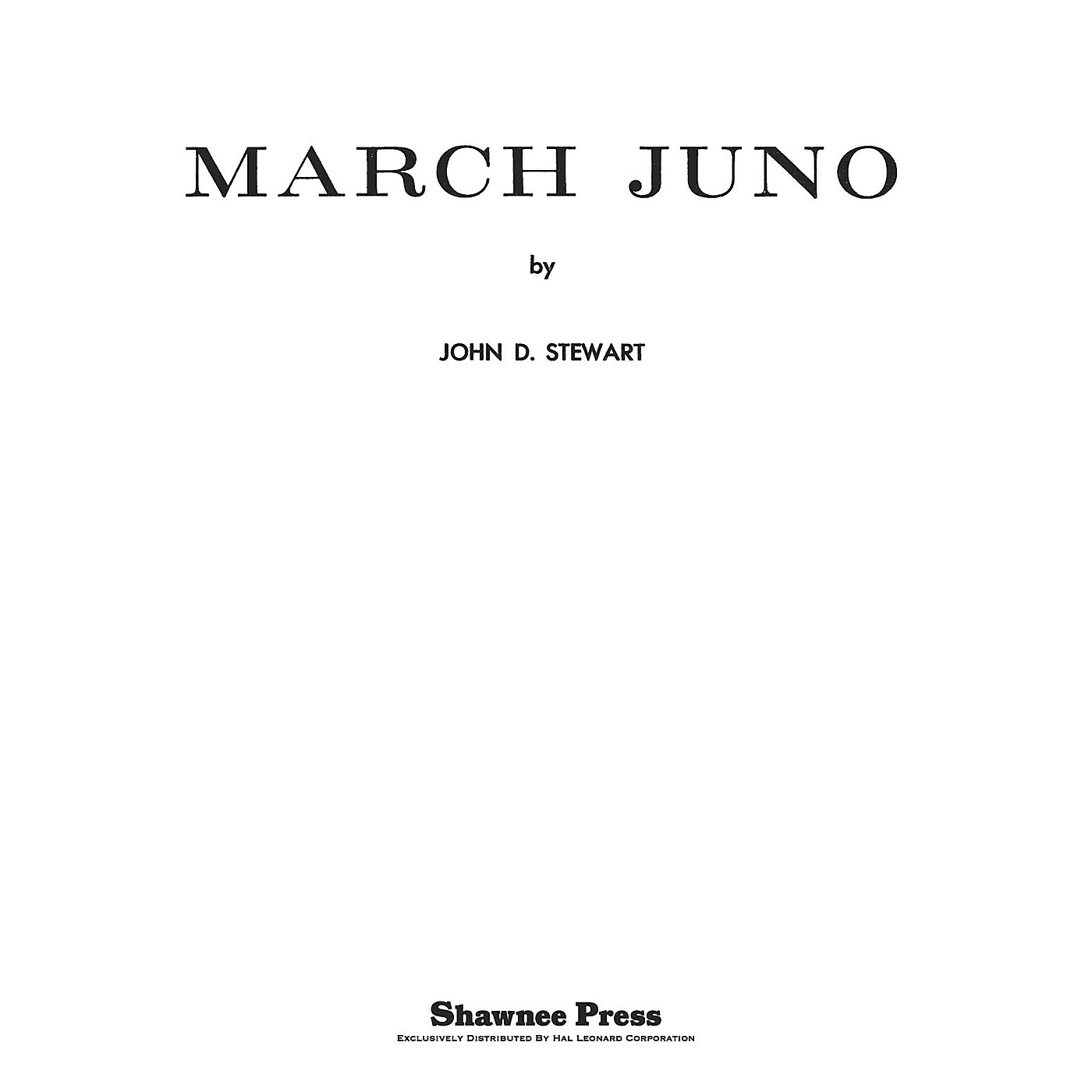 Shawnee Press March Juno Concert Band Level 3 Composed by STEWART thumbnail