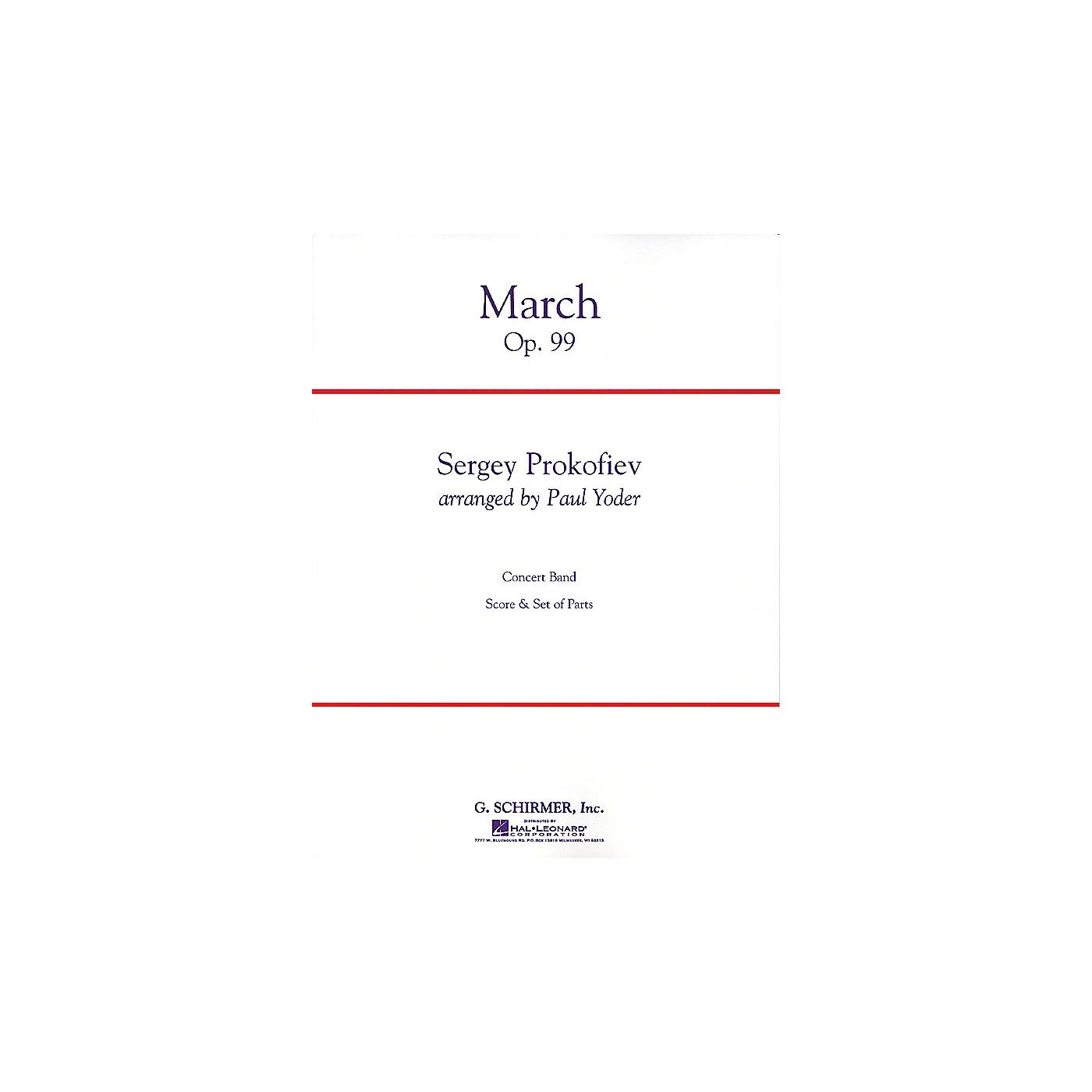 G. Schirmer March Op. 99 Condensed Score Concert Band thumbnail