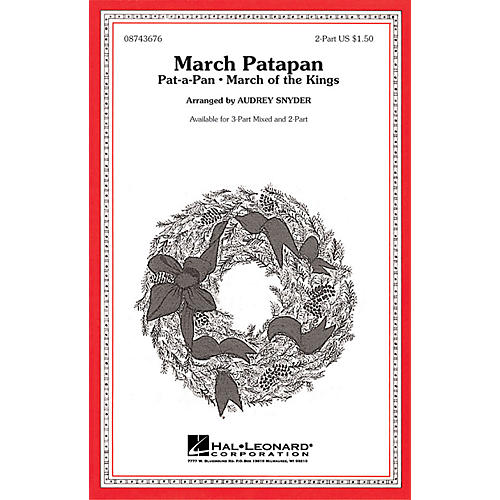 Hal Leonard March Patapan 2-Part arranged by Audrey Snyder thumbnail