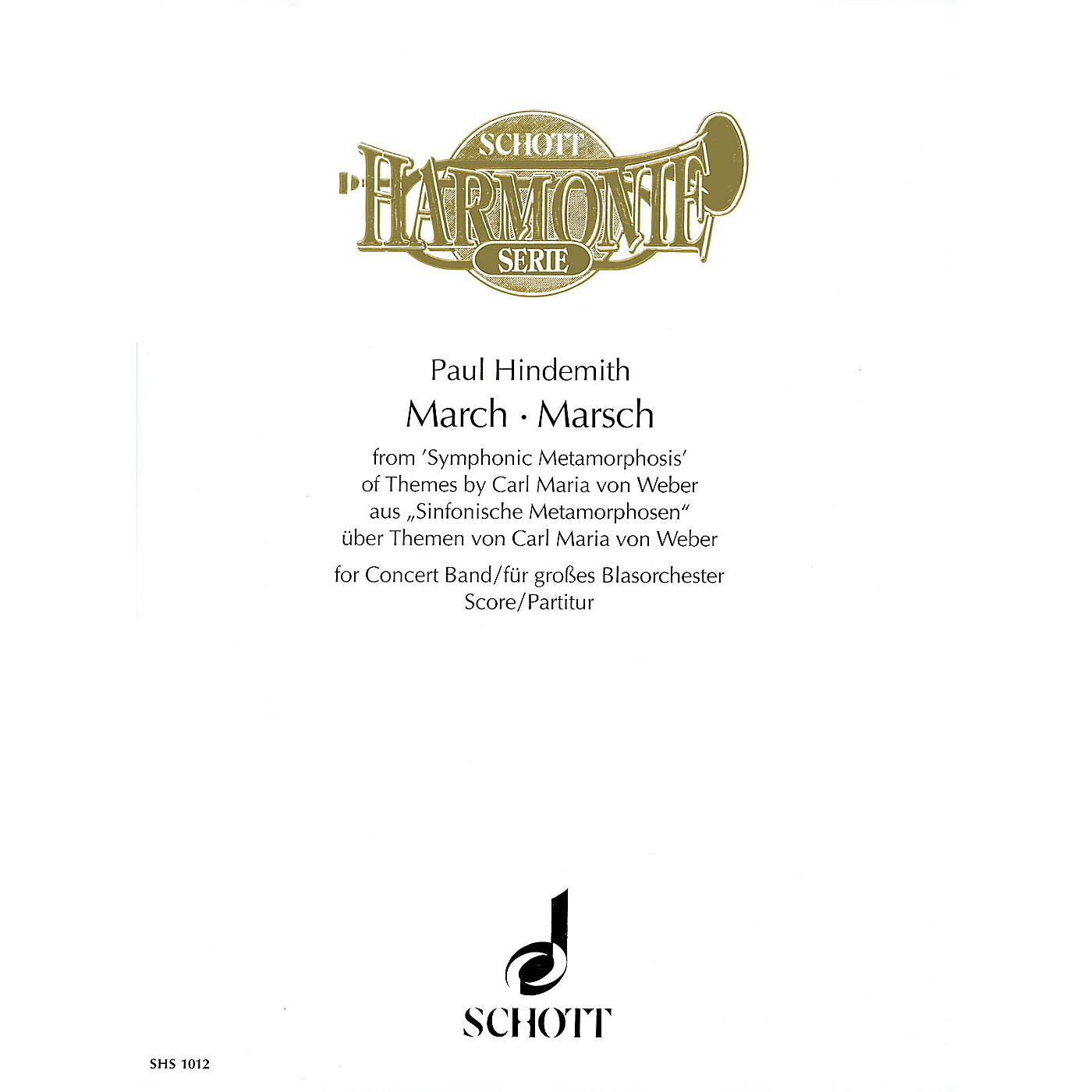 Schott March from Symphonic Metamorphosis (for Concert Band - Score) Concert Band Composed by Paul Hindemith thumbnail