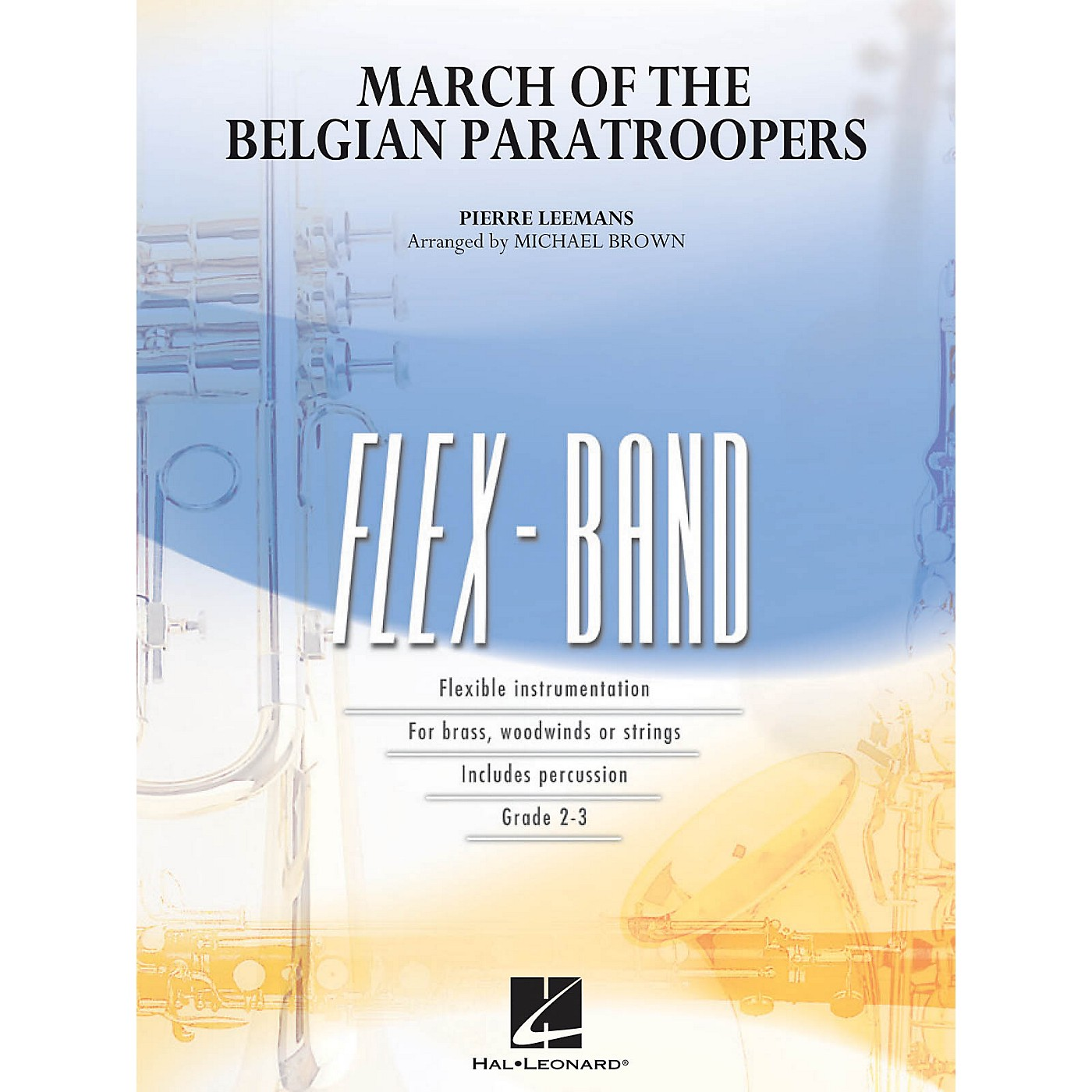 Hal Leonard March of the Belgian Paratroopers Concert Band Level 2-3 Arranged by Michael Brown thumbnail