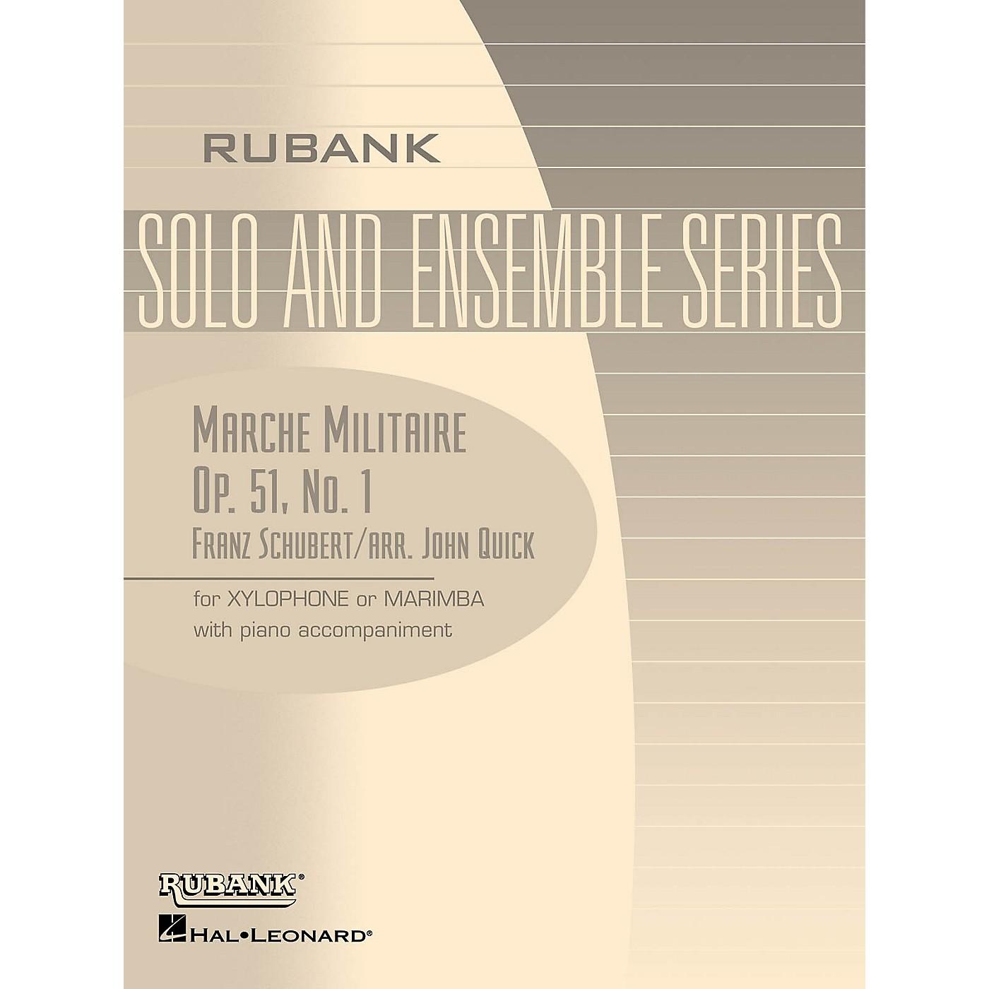 Rubank Publications Marche Militaire, Op. 51 No. 1 Rubank Solo/Ensemble Sheet Series Softcover thumbnail