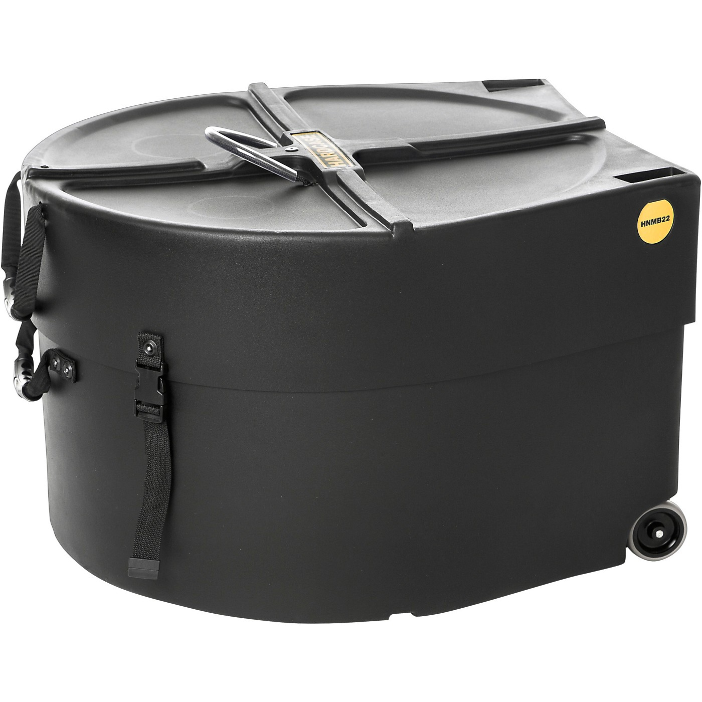 HARDCASE Marching Bass Drum Case with Wheels thumbnail