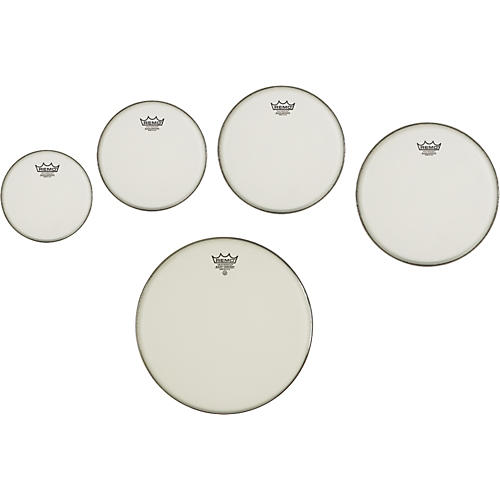 Remo Marching Suede Emperor Crimplock Pro Pack 6, 8, 12 & 14 in., Free 10 in. Suede Emperor Drum Head thumbnail