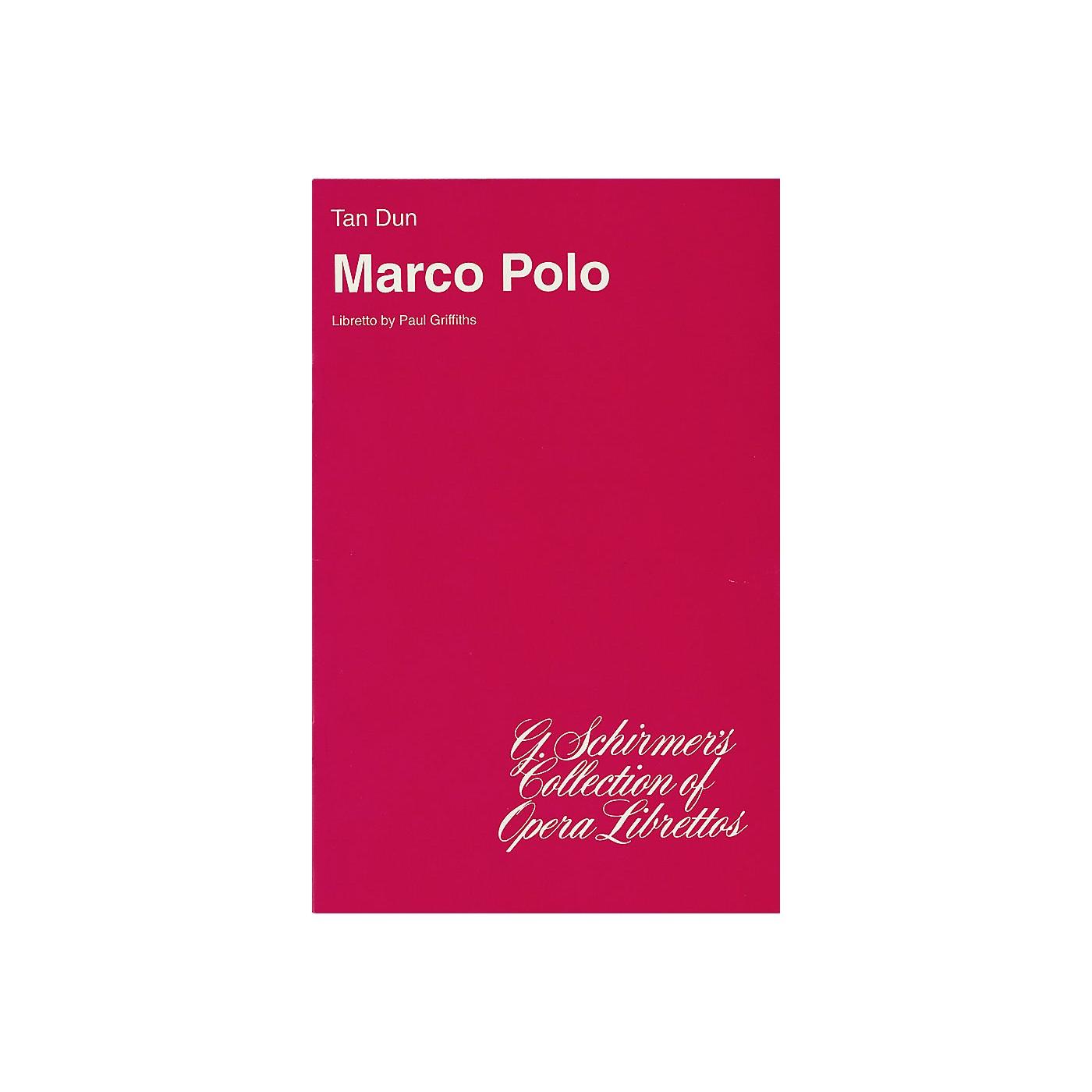 G. Schirmer Marco Polo (Libretto) Opera Series  by Tan Dun thumbnail