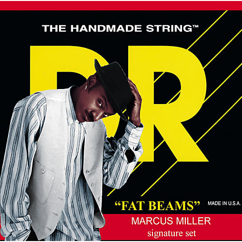 DR Strings Marcus Miller MM5-45 Fat Beams Medium 5-String Bass Strings .125 Low B-thumbnail