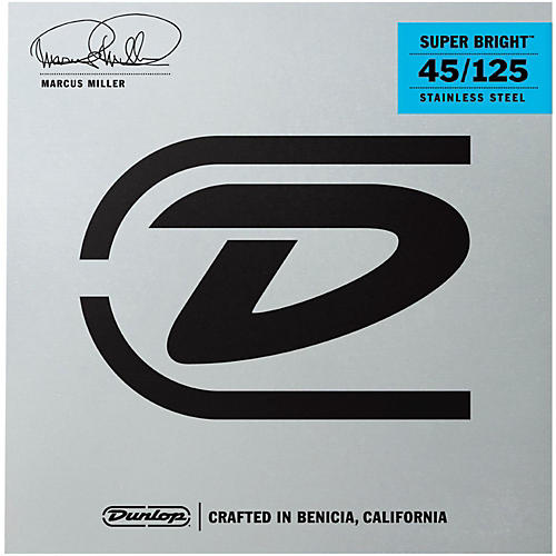 Dunlop Marcus Miller Super Bright 5-String Electric Bass Strings (45-105) thumbnail