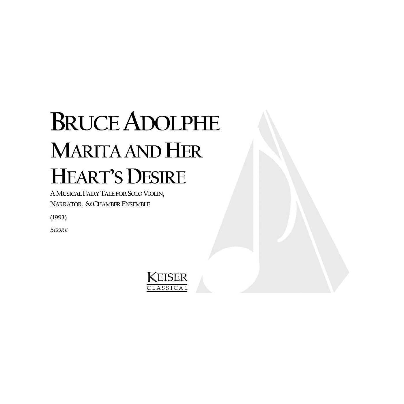 Lauren Keiser Music Publishing Marita and Her Heart's Desire Full Score Composed by Bruce Adolphe thumbnail