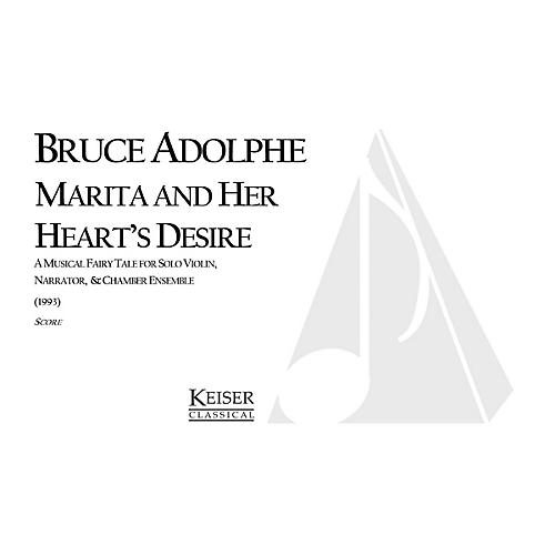 Lauren Keiser Music Publishing Marita and Her Heart's Desire Full Score Composed by Bruce Adolphe thumbnail