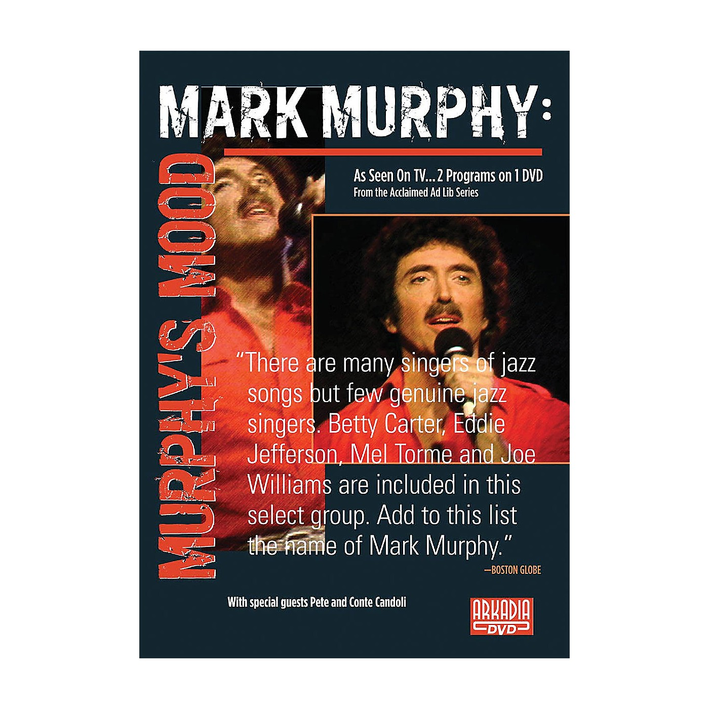 Hal Leonard Mark Murphy - Murphy's Mood (Visions of Jazz Series) DVD Series DVD Performed by Mark Murphy thumbnail