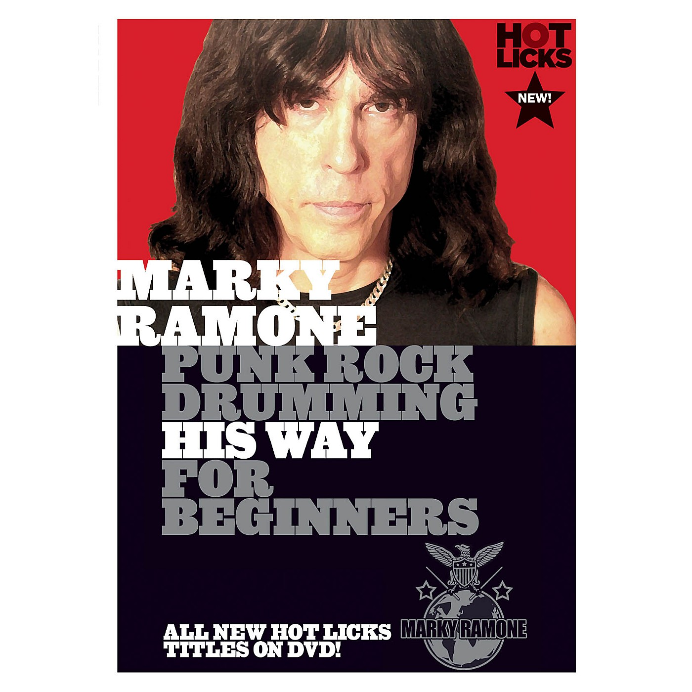 Music Sales Marky Ramone - Punk Rock Drumming His Way for Beginners Music Sales America Series DVD by Marky Ramone thumbnail