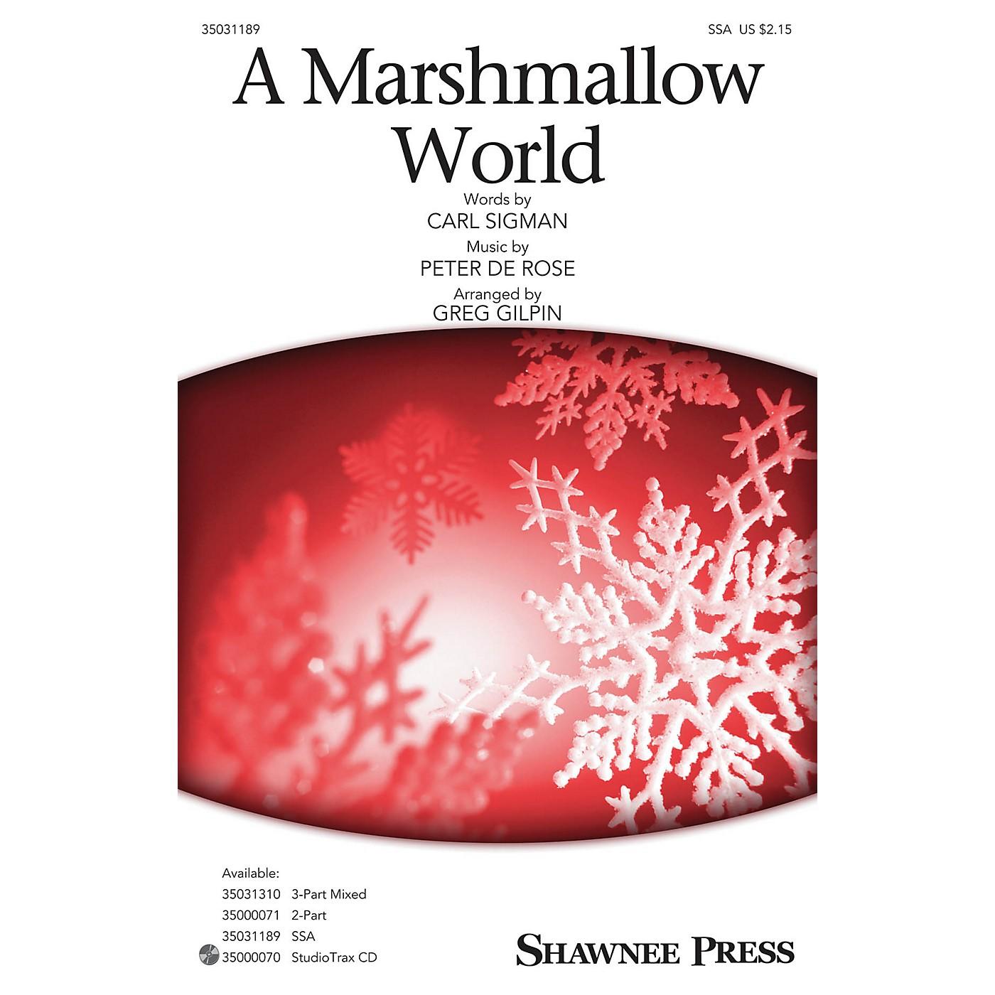 Shawnee Press Marshmallow World SSA arranged by Greg Gilpin thumbnail