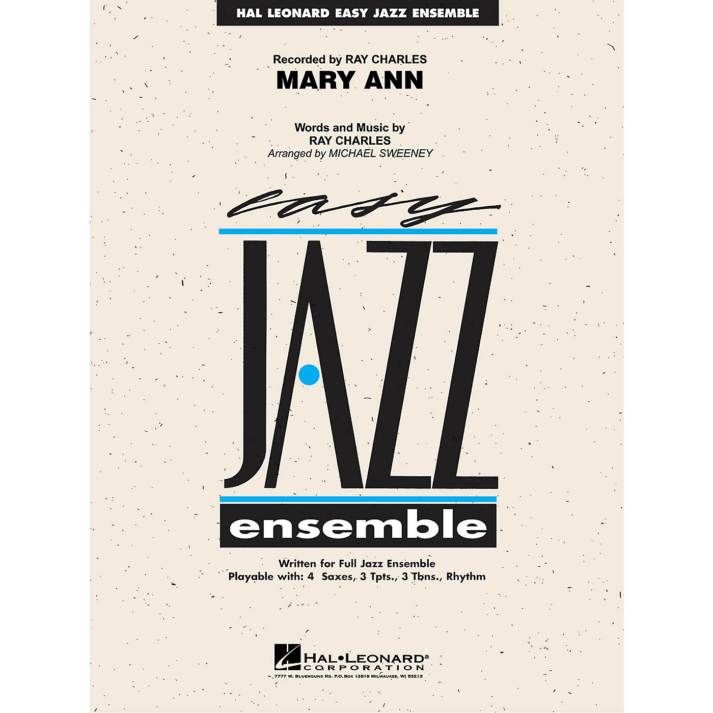 Hal Leonard Mary Ann (from RAY) Jazz Band Level 2 by Ray Charles Arranged by Michael Sweeney thumbnail
