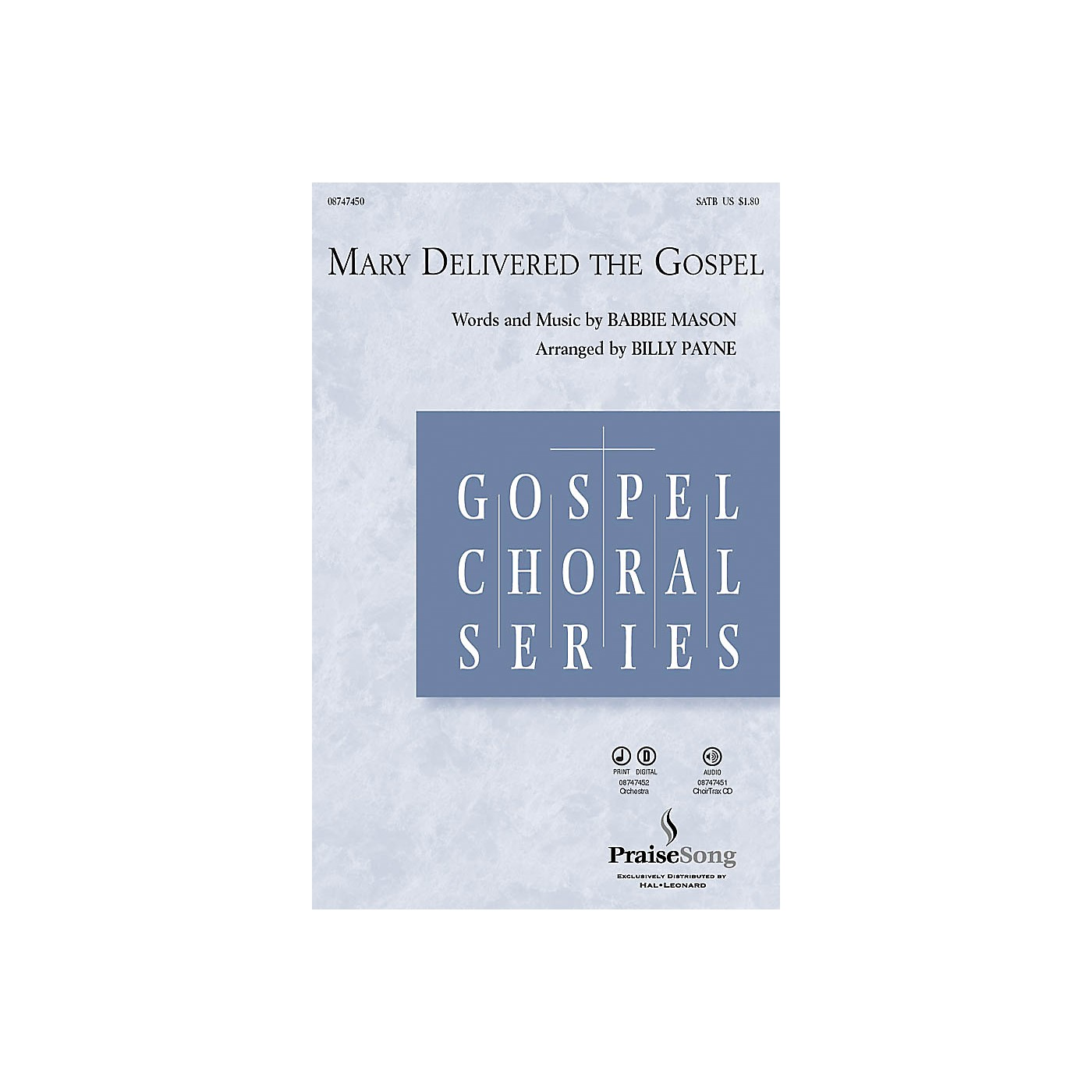 Hal Leonard Mary Delivered the Gospel CHOIRTRAX CD Arranged by Billy Payne thumbnail