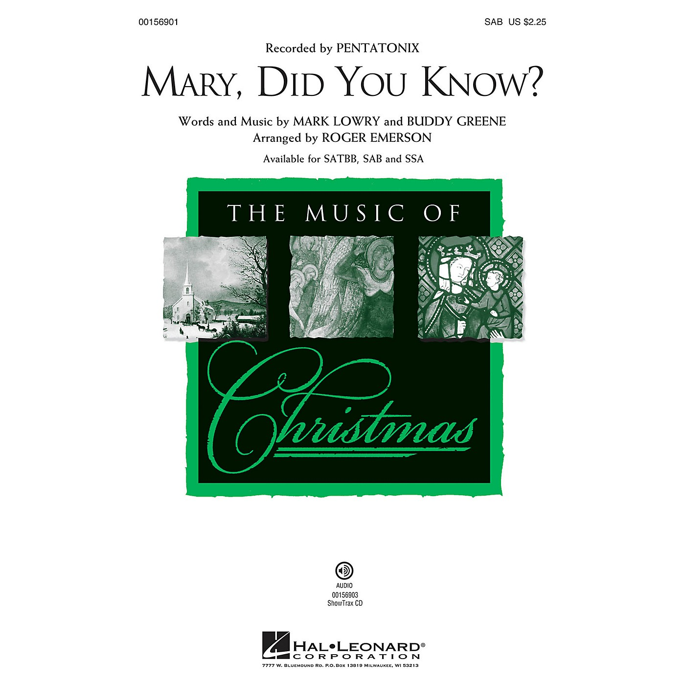 Hal Leonard Mary, Did You Know? SAB arranged by Roger Emerson thumbnail