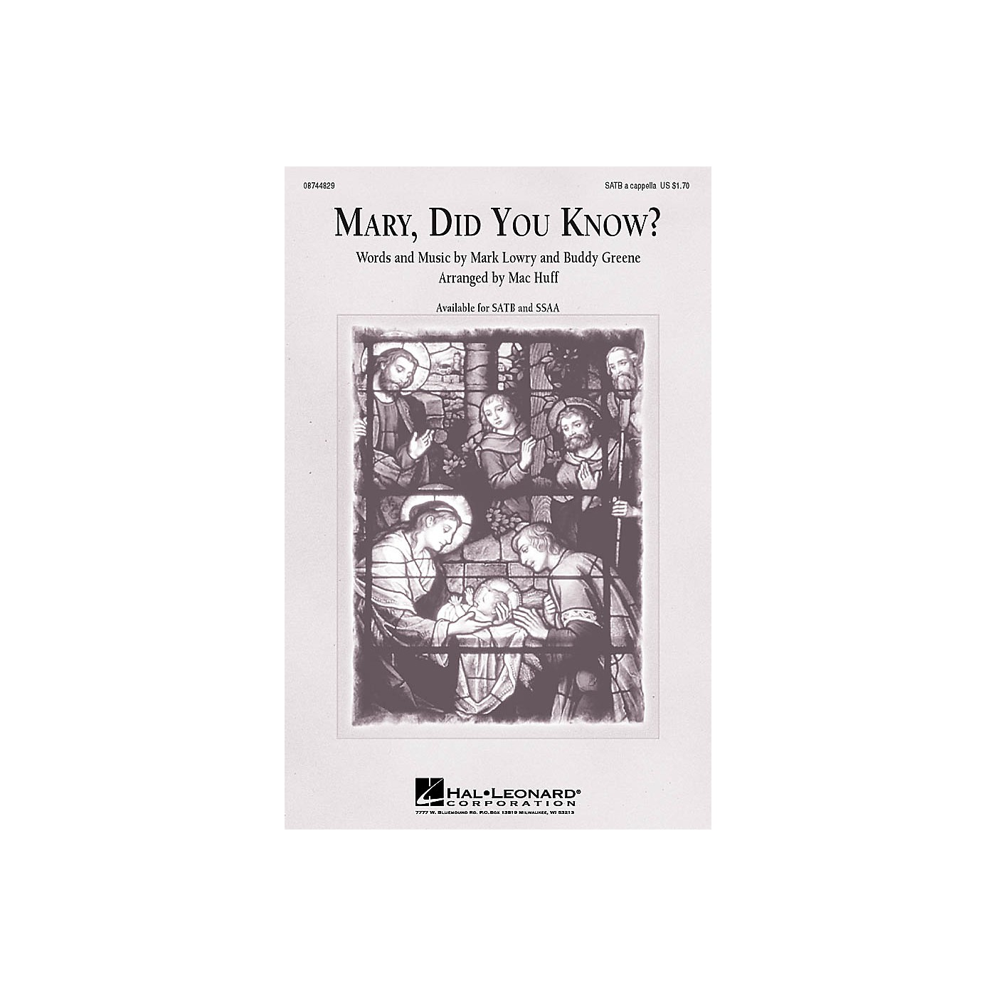 Hal Leonard Mary, Did You Know? SATB a cappella arranged by Mac Huff thumbnail