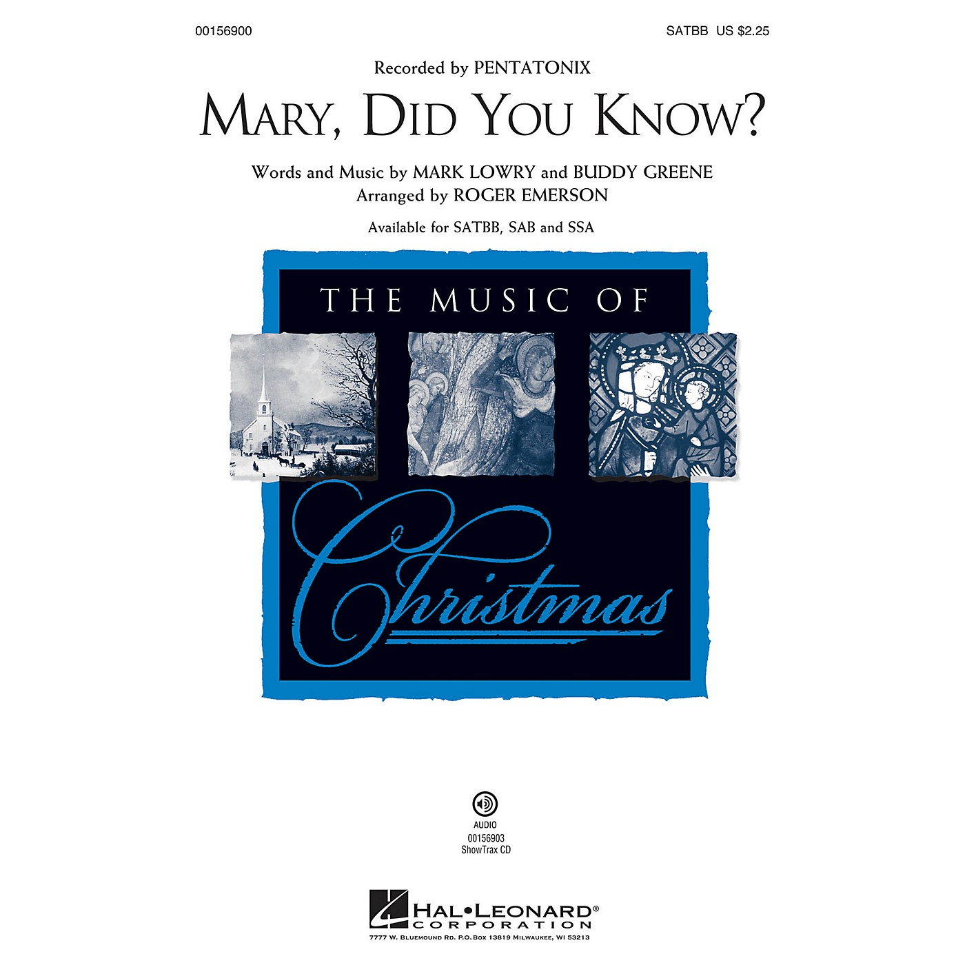 Hal Leonard Mary, Did You Know? SATBB arranged by Roger Emerson thumbnail