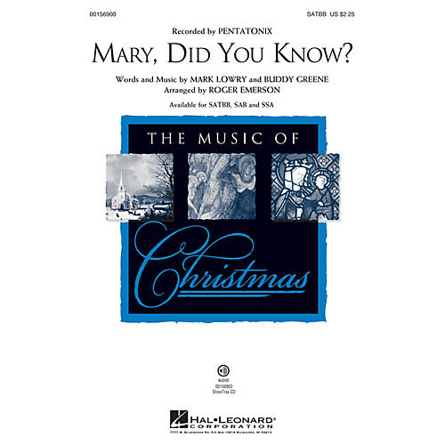 Hal Leonard Mary, Did You Know? ShowTrax CD Arranged by Roger Emerson thumbnail