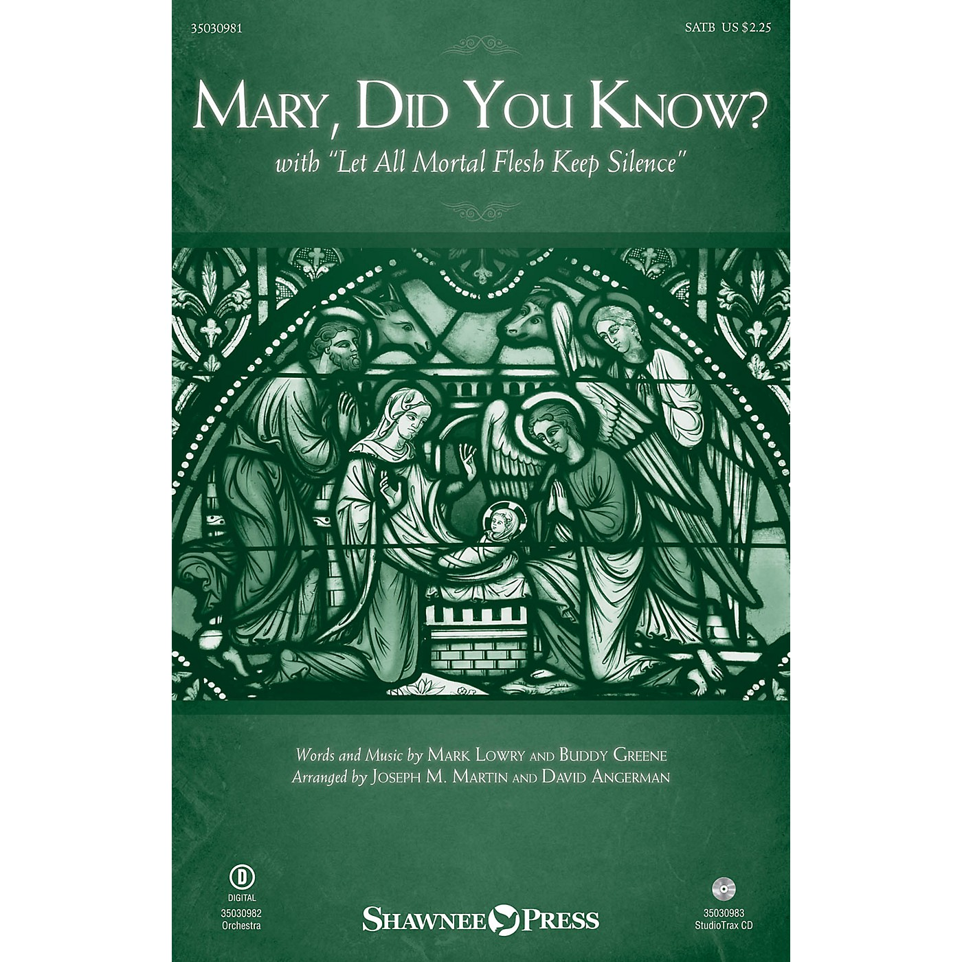 Shawnee Press Mary, Did You Know? (with Let All Mortal Flesh Keep Silence) SATB arranged by Joseph M. Martin thumbnail