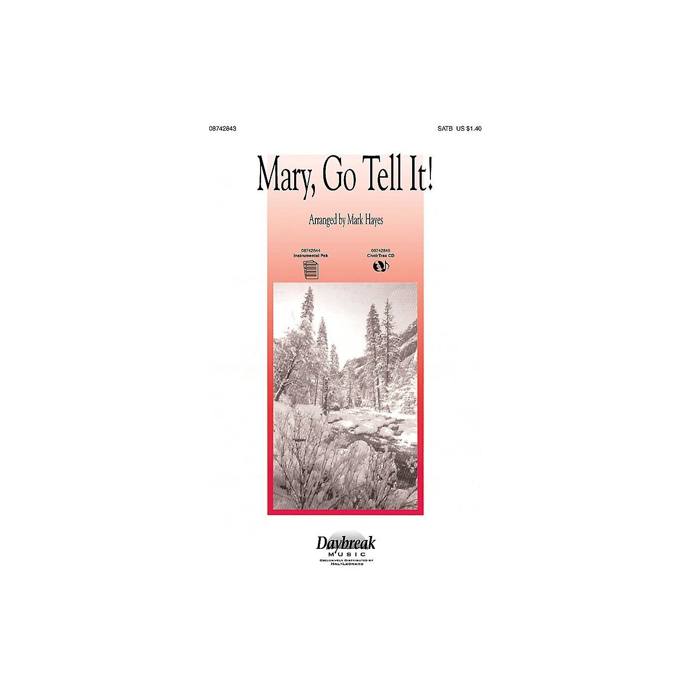 Daybreak Music Mary, Go Tell It! (Medley) SATB arranged by Mark Hayes thumbnail