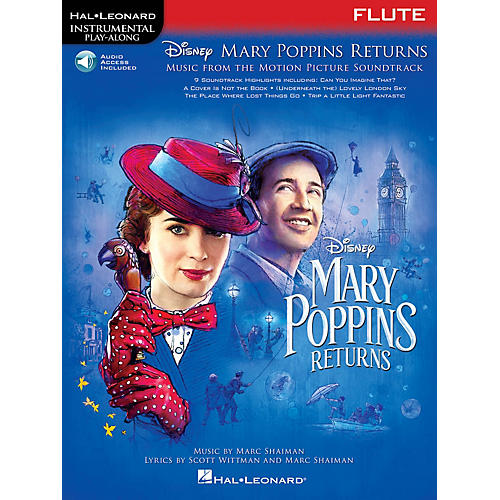Hal Leonard Mary Poppins Returns for Flute Instrumental Play-Along Songbook Book/Audio Online thumbnail