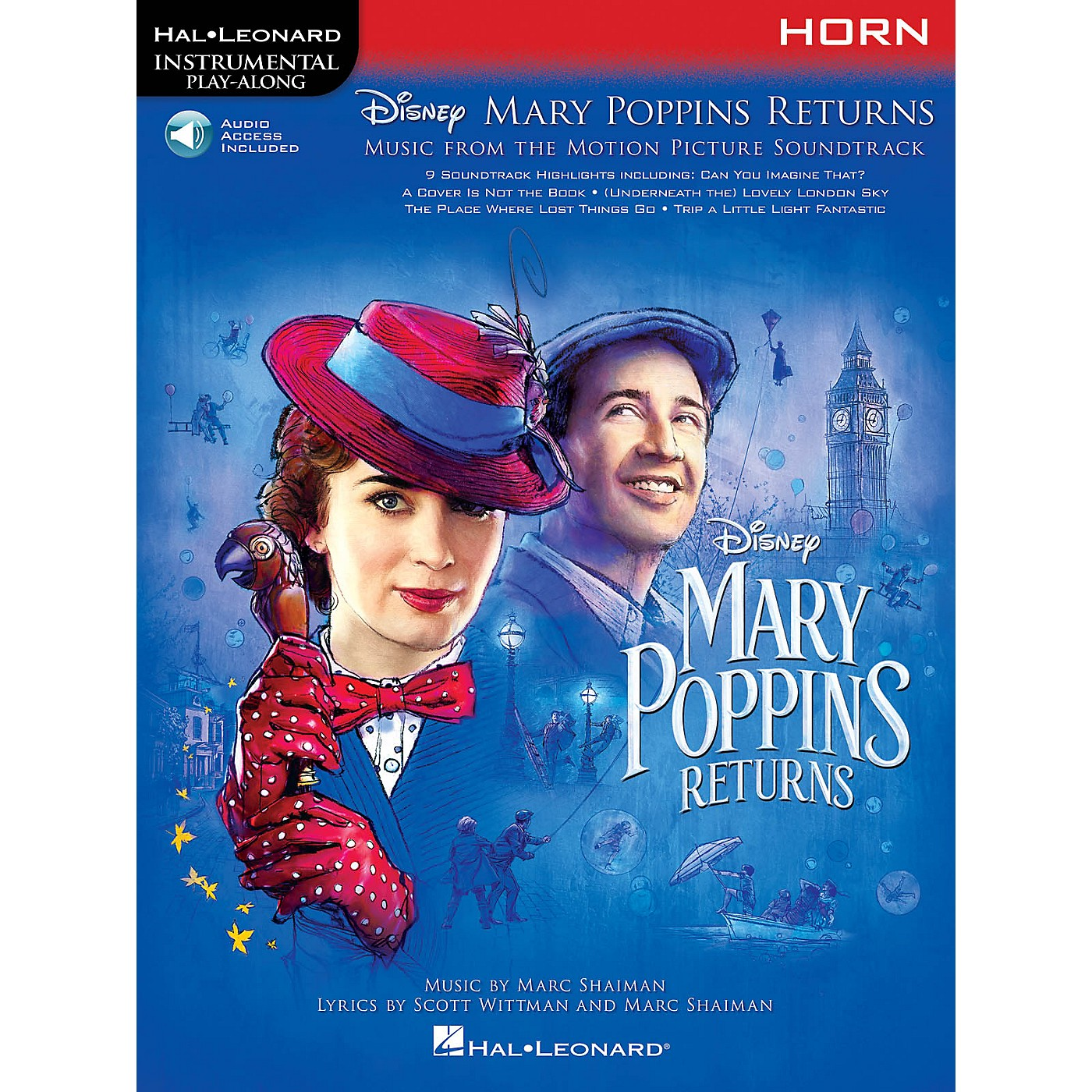 Hal Leonard Mary Poppins Returns for Horn Instrumental Play-Along Series Softcover Audio Online thumbnail