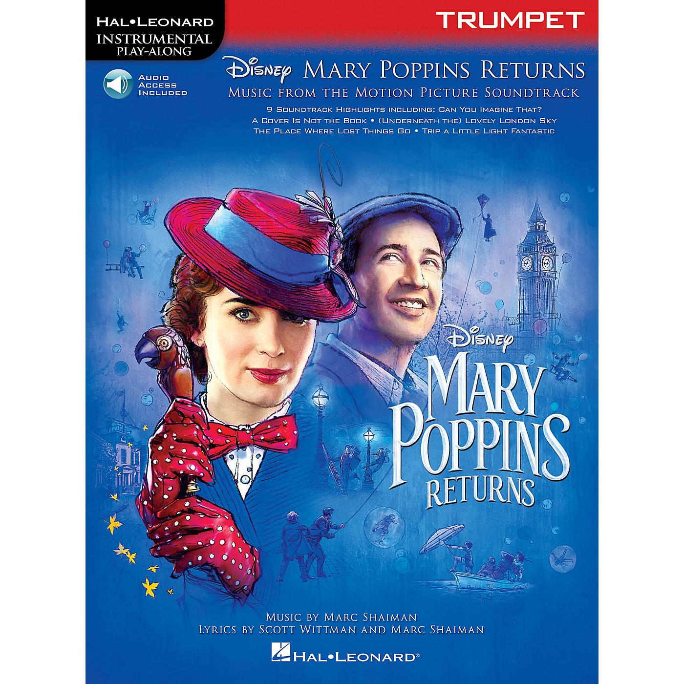 Hal Leonard Mary Poppins Returns for Trumpet Instrumental Play-Along Book/Audio Online thumbnail