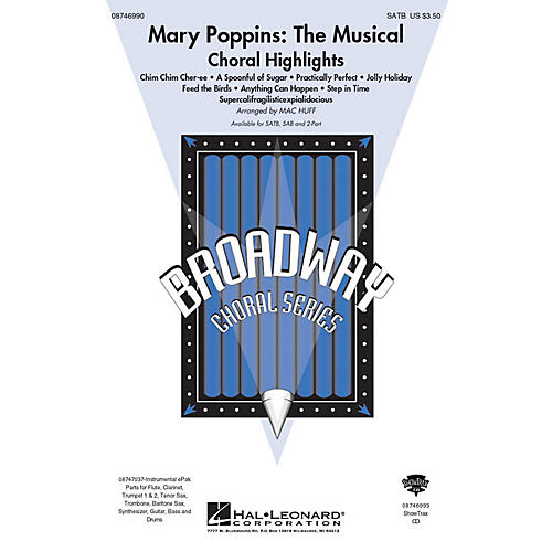Hal Leonard Mary Poppins: The Musical (Choral Highlights) 2-Part Arranged by Mac Huff thumbnail